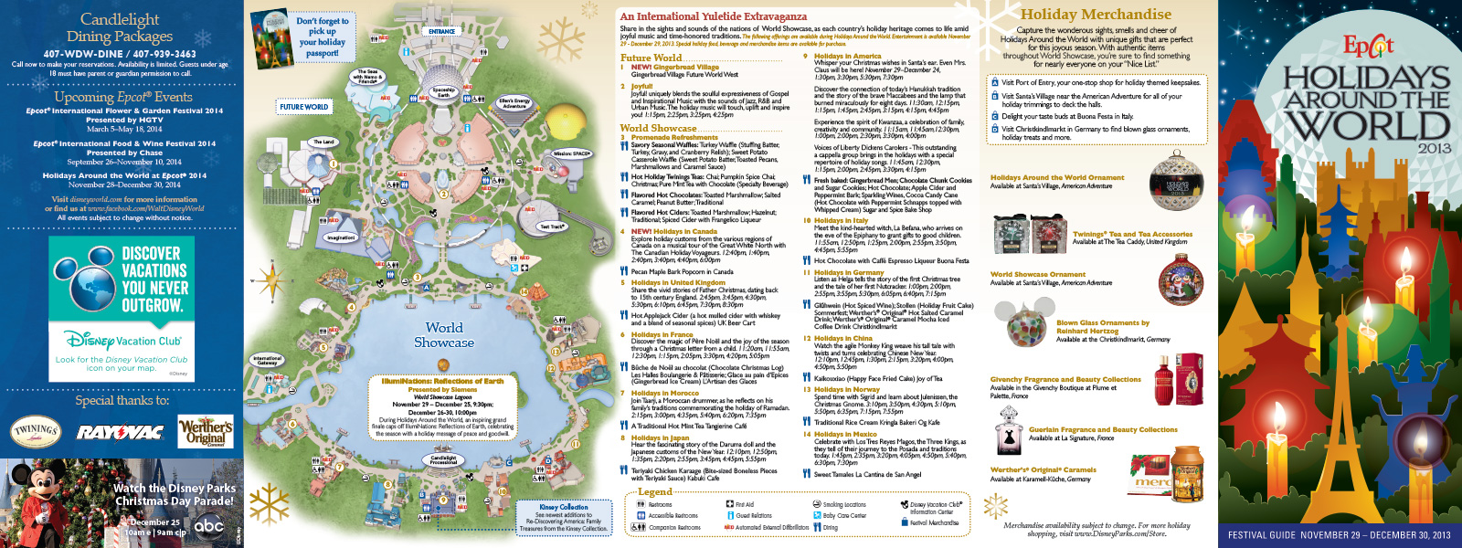 PHOTOS - Epcot\'s Holidays Around the World guide map