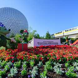 2017 Epcot International Festival of the Holidays decor