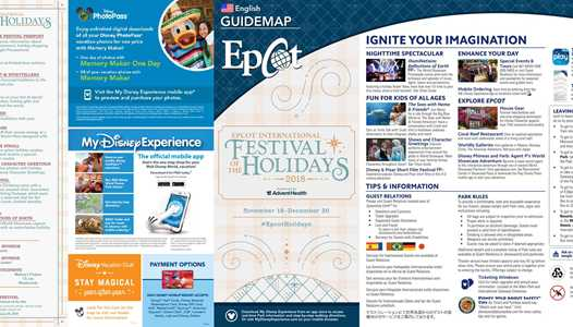 PHOTOS - Epcot 2018 Festival of the Holidays times guide and guide map