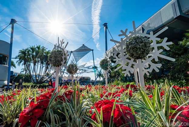 2019 Epcot International Festival of the Holidays decor