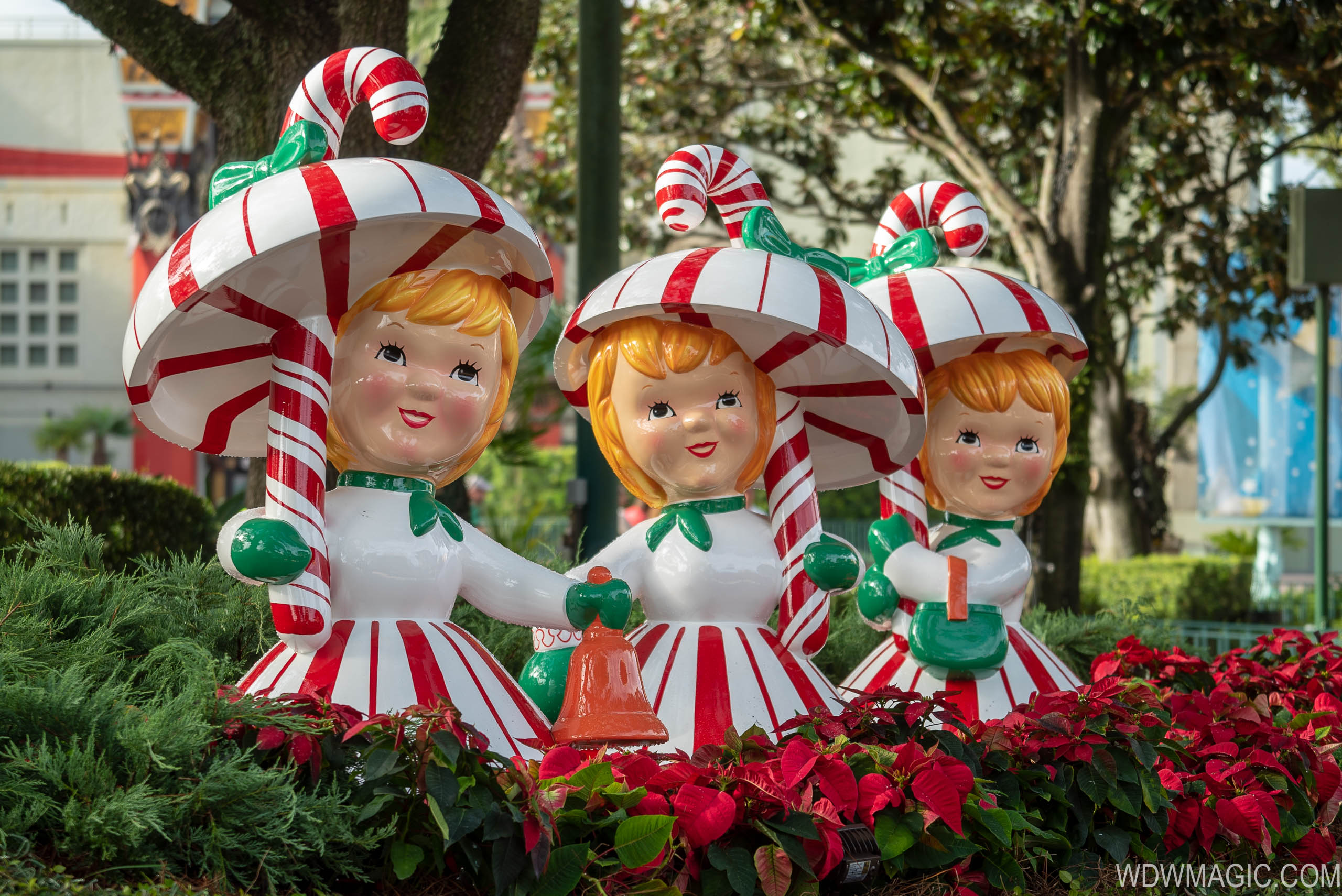 Vintage Christmas decor at Disney's Hollywood Studios
