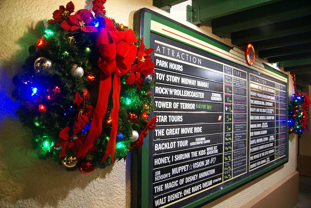 Disney's Hollywood Studios holiday decorations 2009