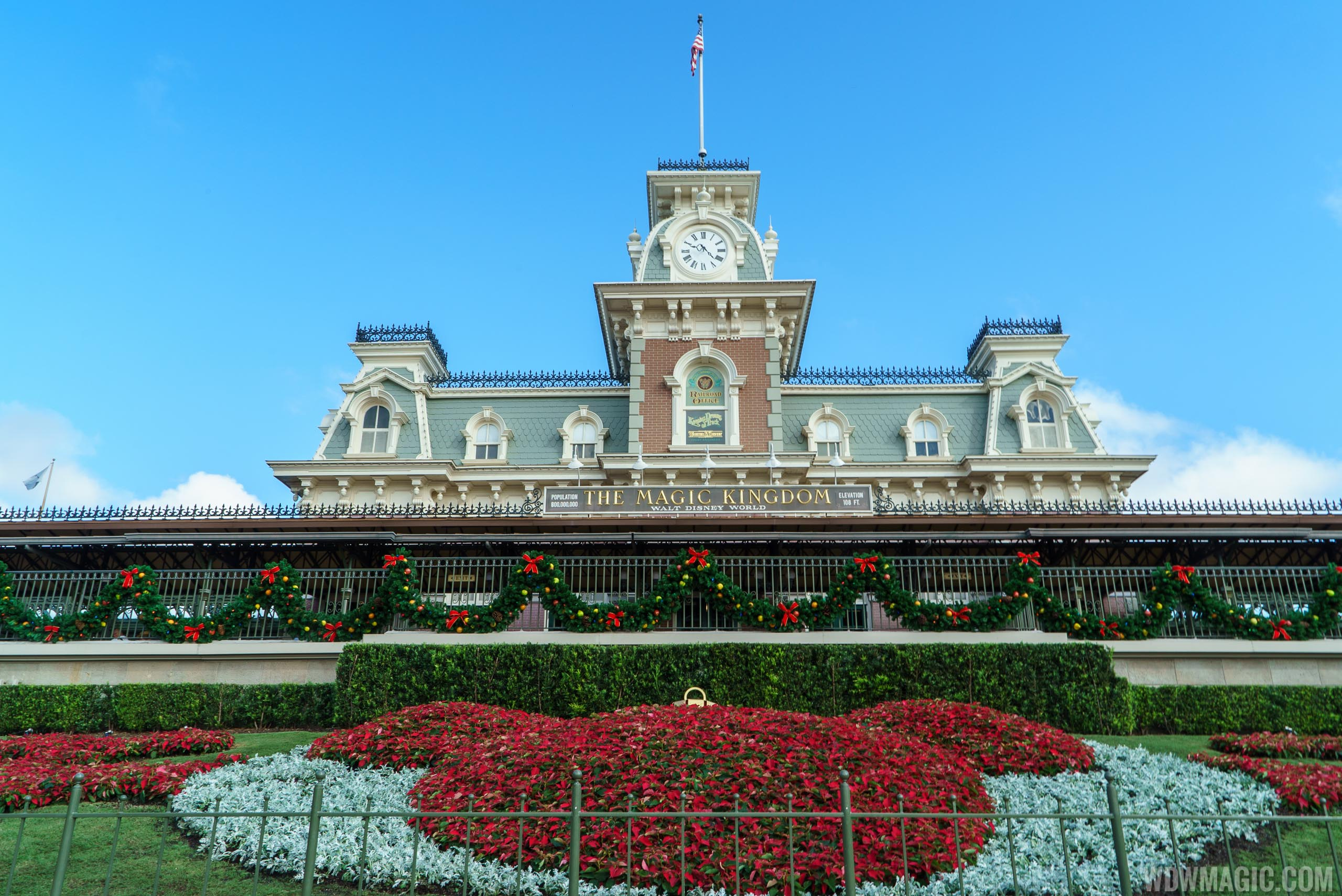 Holidays decorations at the Magic Kingdom 2015