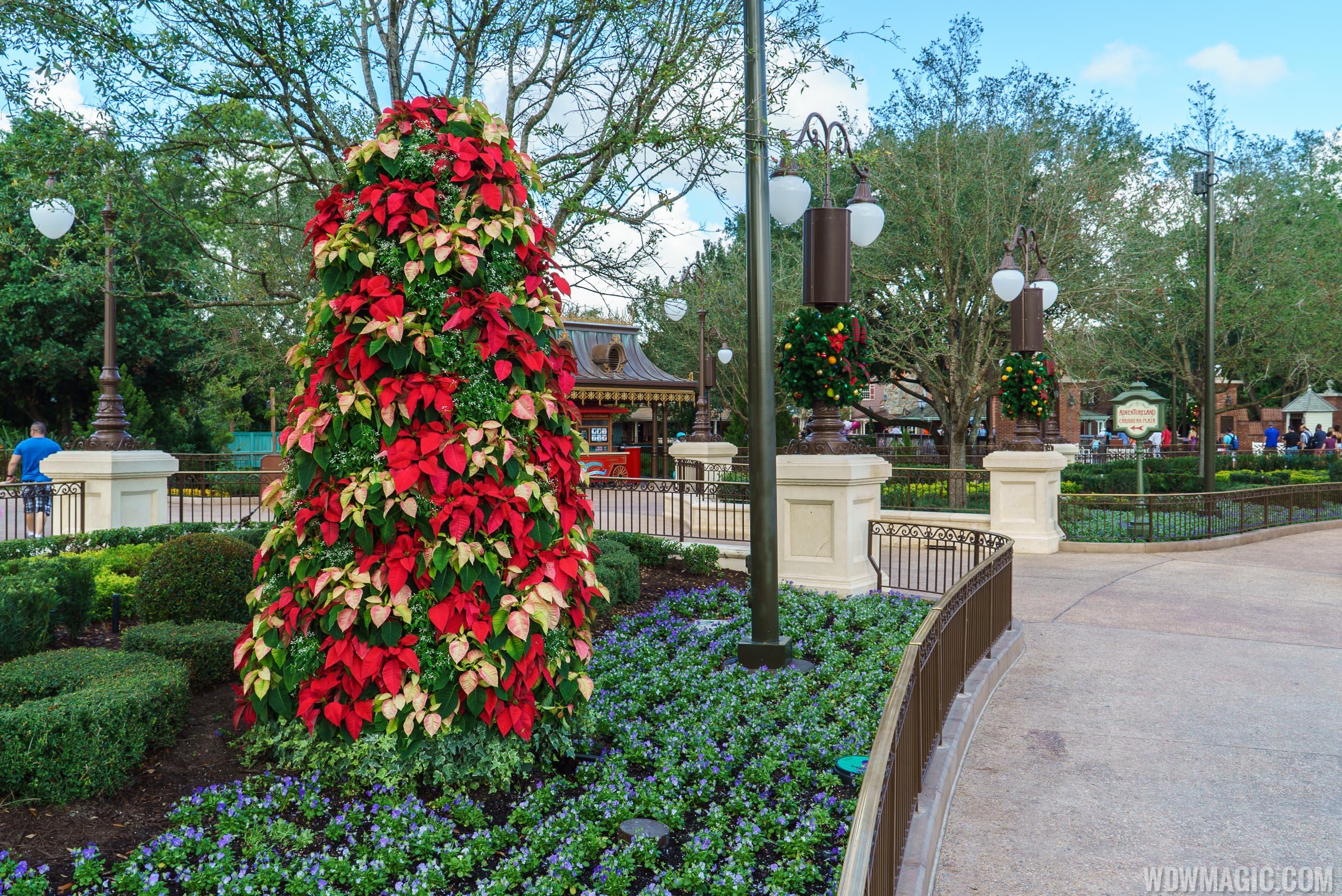 Holidays decorations at the Magic Kingdom 2015