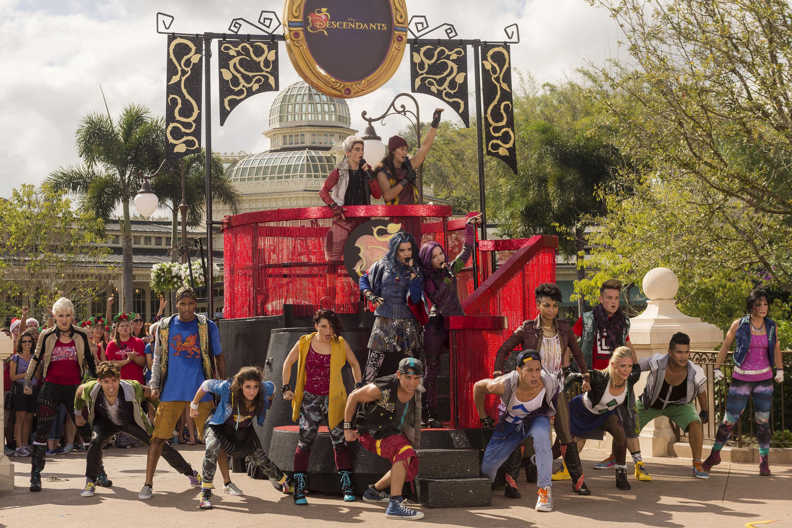 Disney Parks Unforgettable Christmas Celebration performance - Cast of Descendants