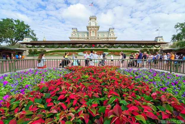 Holidays decorations at the Magic Kingdom 2016