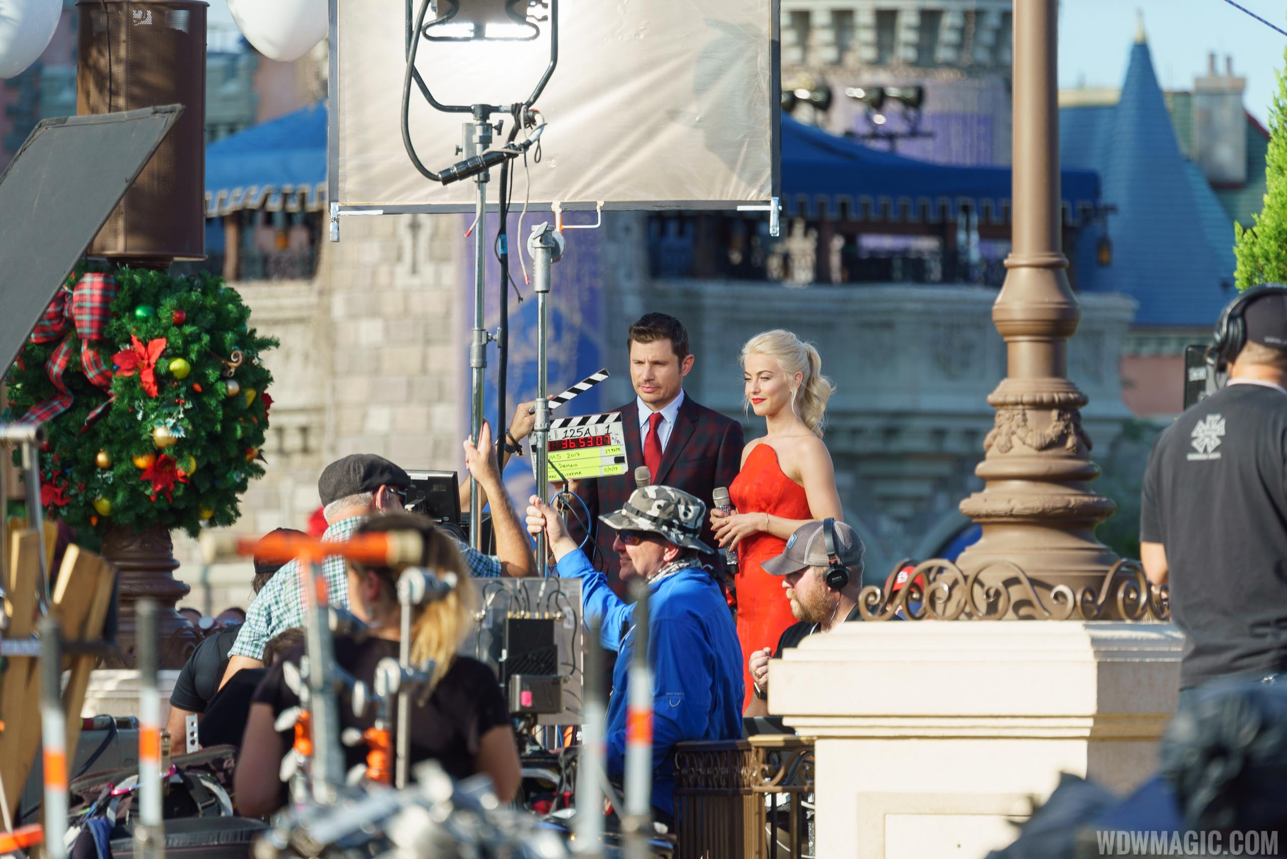 photos shooting the abc disney parks holiday specials