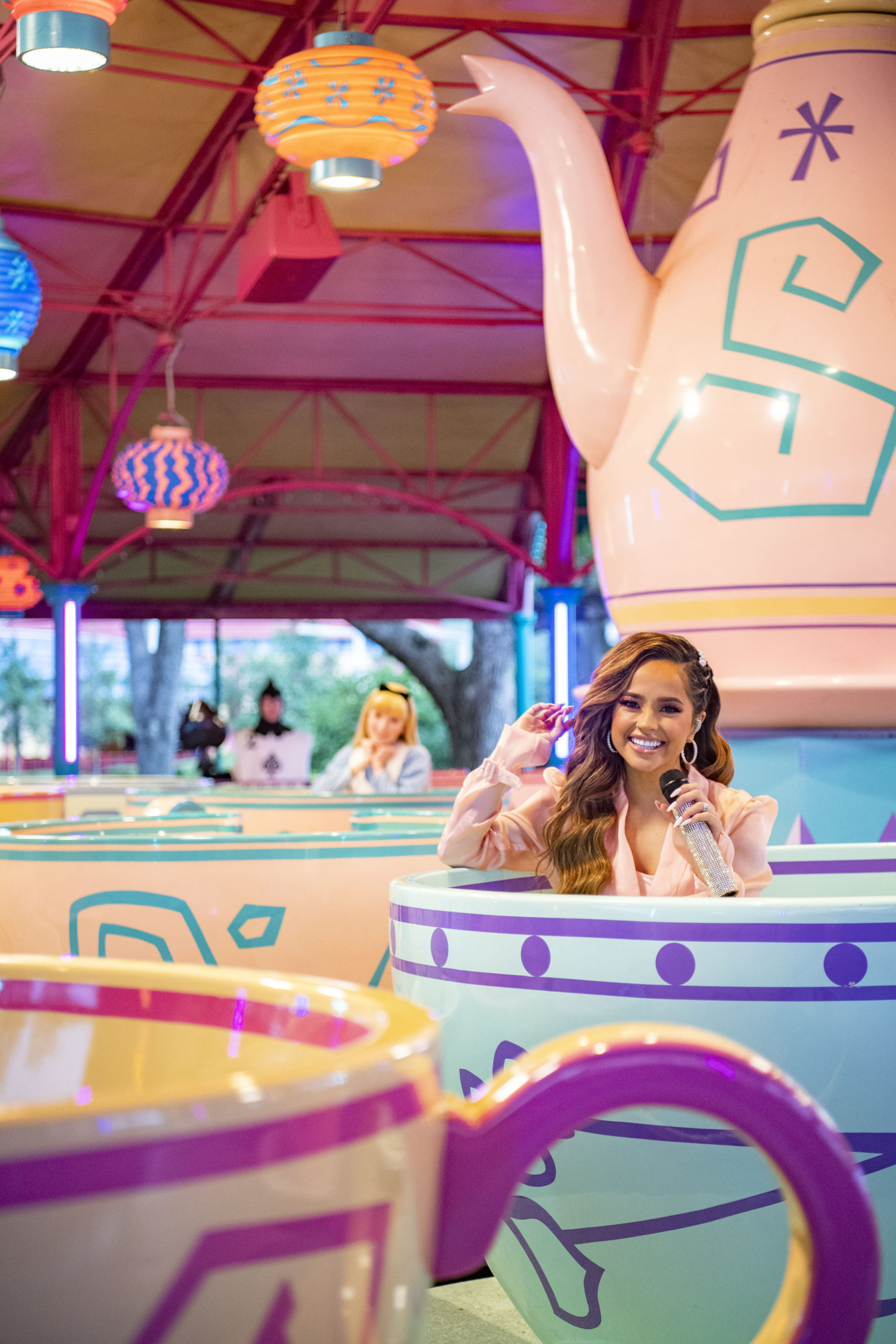 Becky G performs from the Mad Tea Party at Magic Kingdom