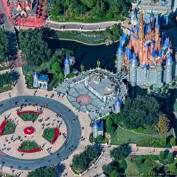 Magic Kingdom Christmas Tree from the air