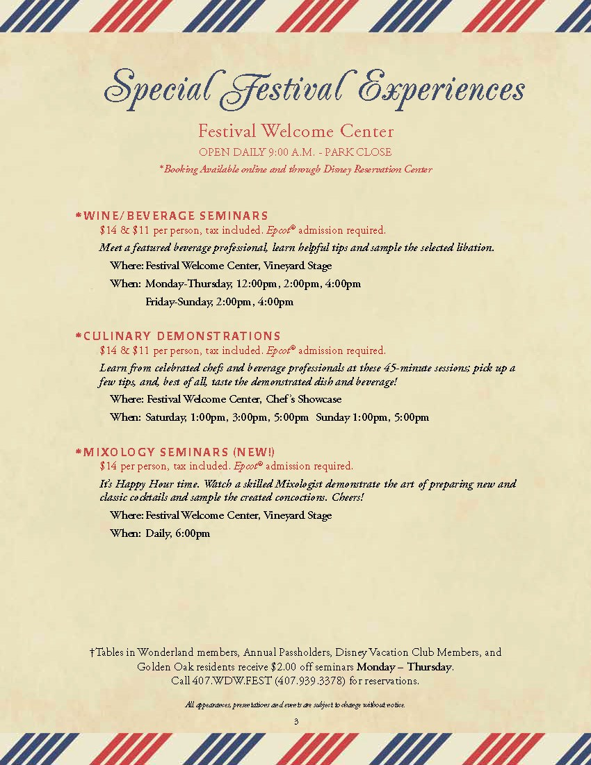 2012 Special Event Experiences guide