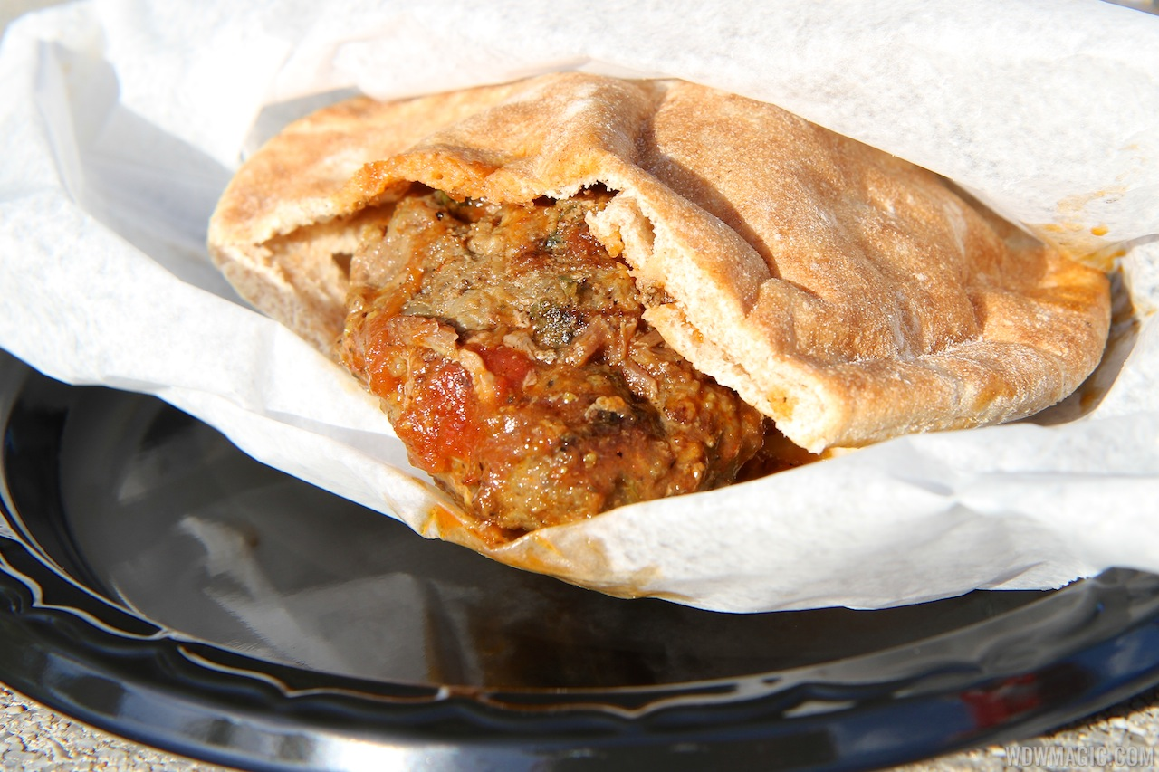 Morocco - Kefta Pocket (Ground Seasoned Beef in a Pita Pocket)