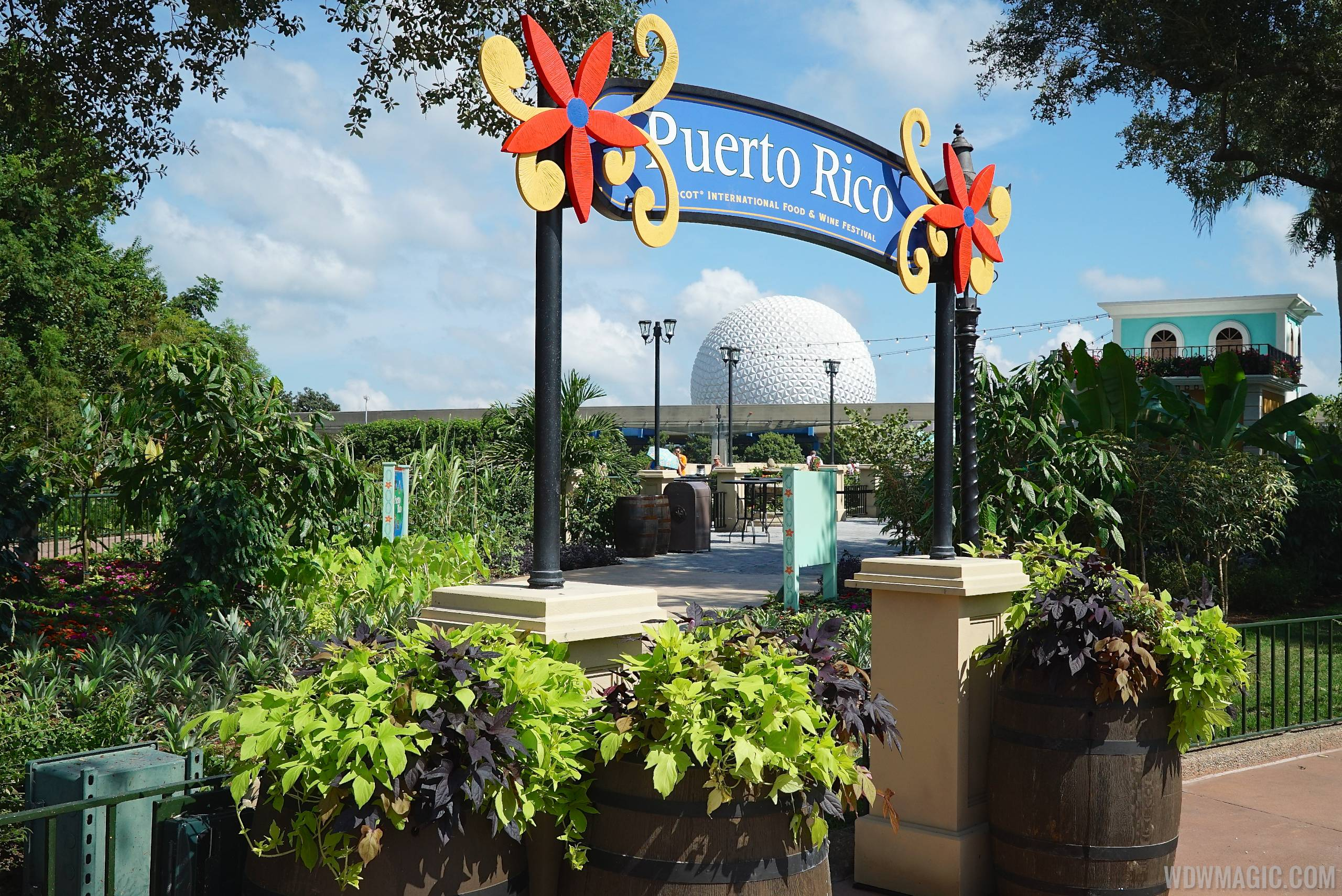 The Puerto Rico marketplace kiosk at the Food and Wine Festival