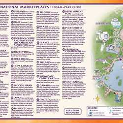 2014 Epcot International Food and Wine Festival 2014 Guide Map - Week 1
