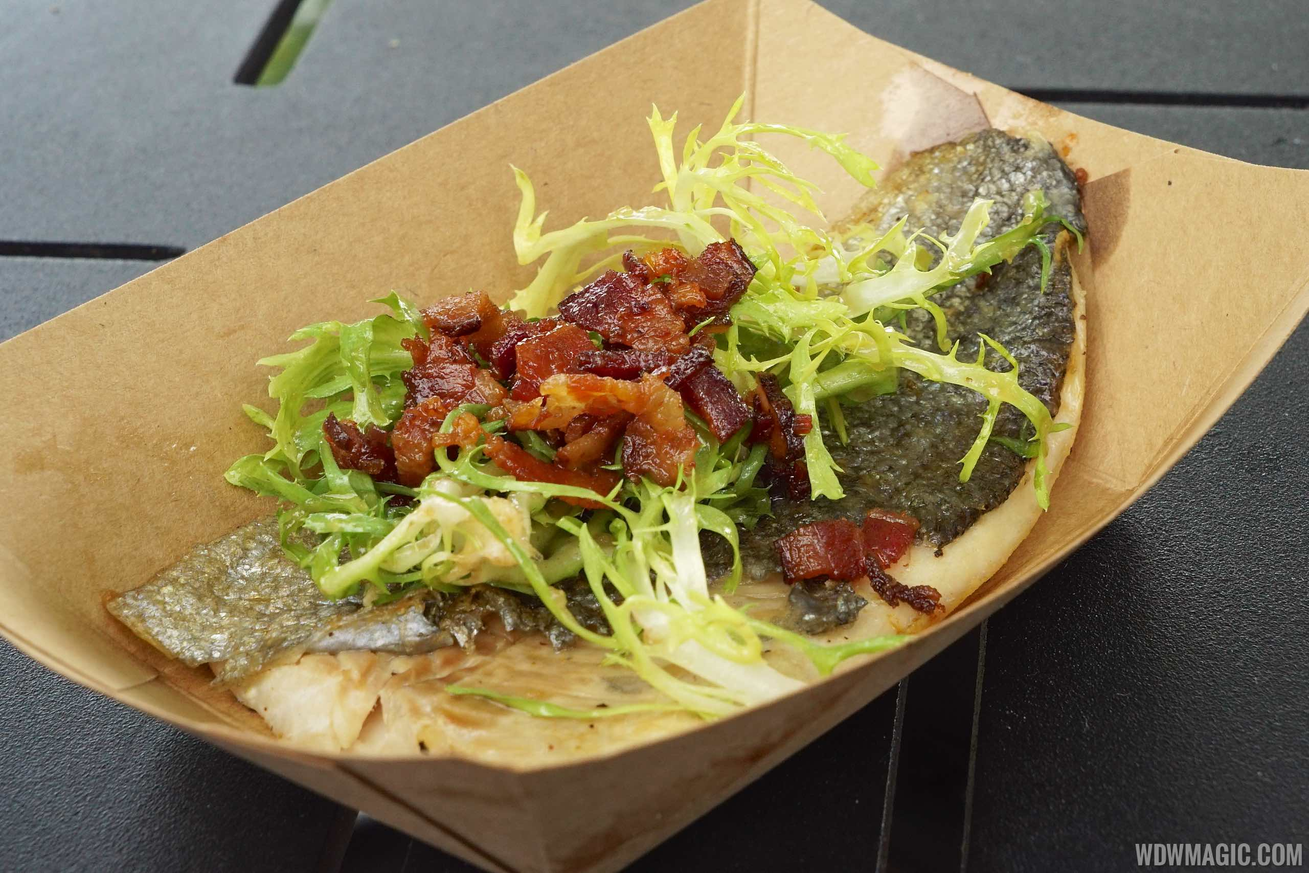 Canada - Seared rainbow trout with bacon, frisee and maple Minus 8 Vinaigrette