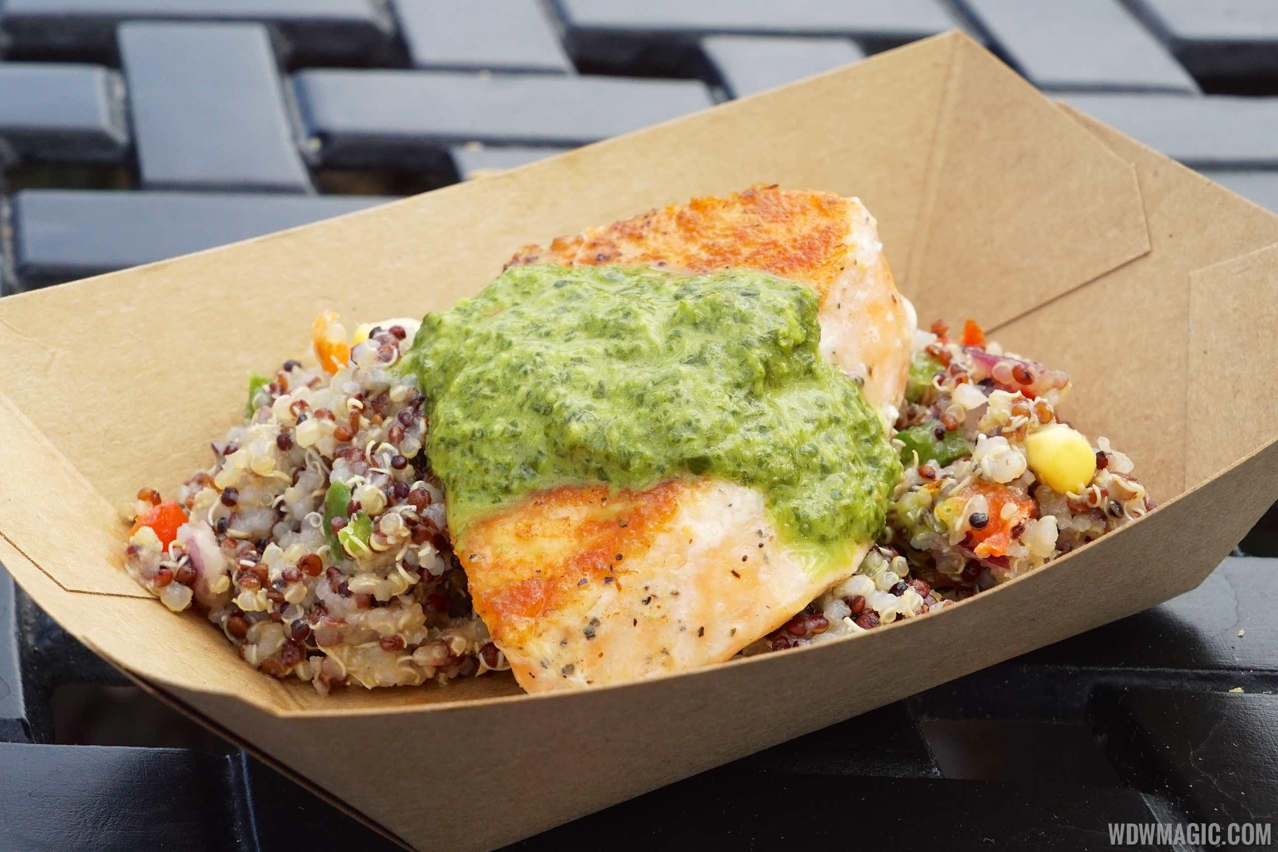Patagonia - Roasted Verlasso salmon with quinoa salad and arugula chimichurri