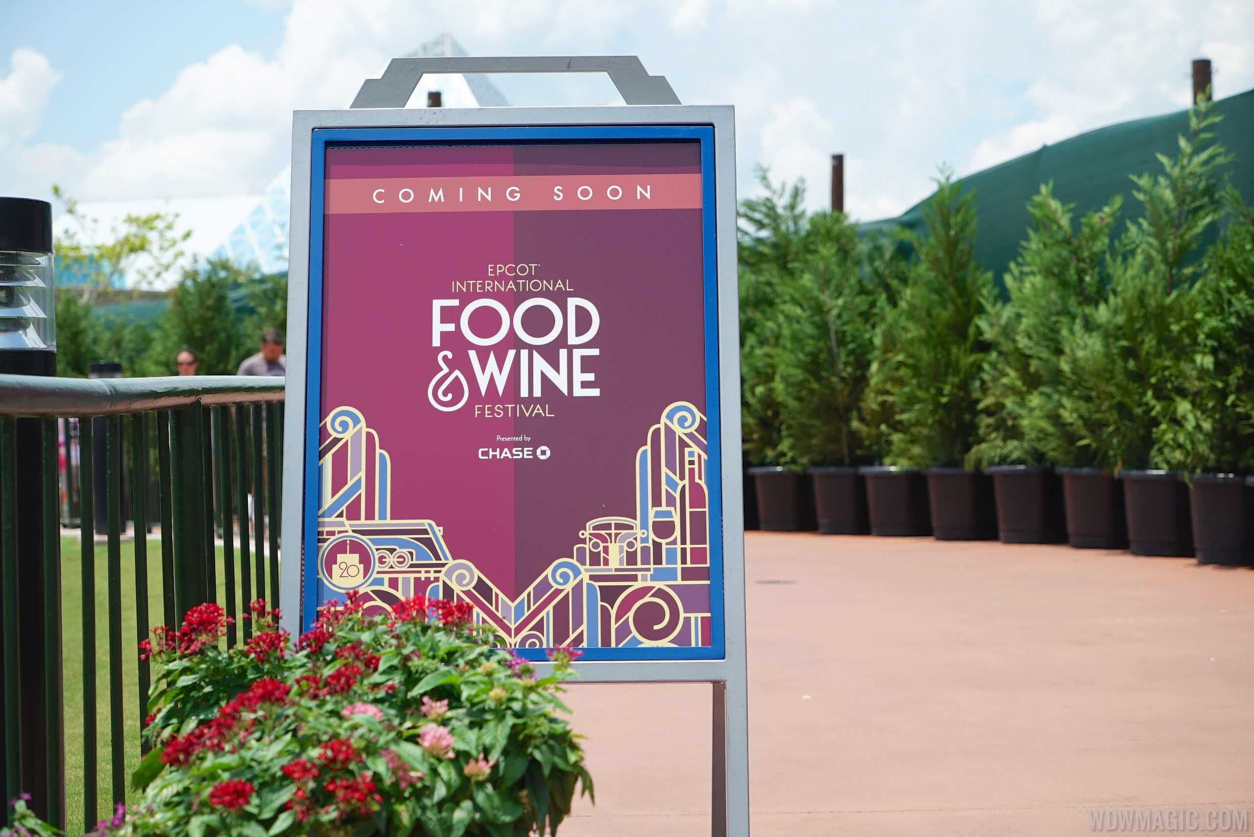 2015 Food and Wine Festival setup in Future World