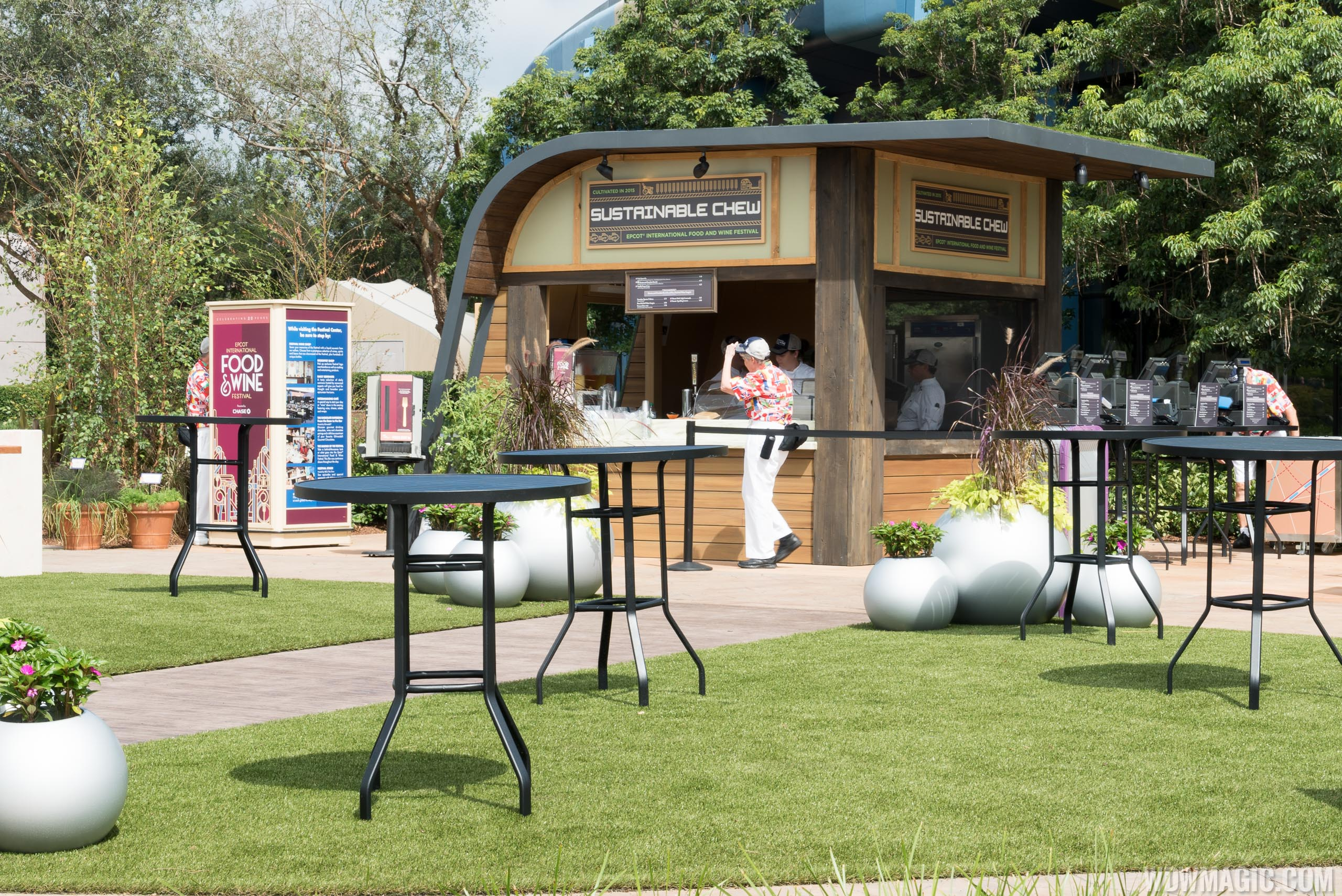 2015 Epcot Food and Wine Festival Marketplace kiosk - Sustainable Chew