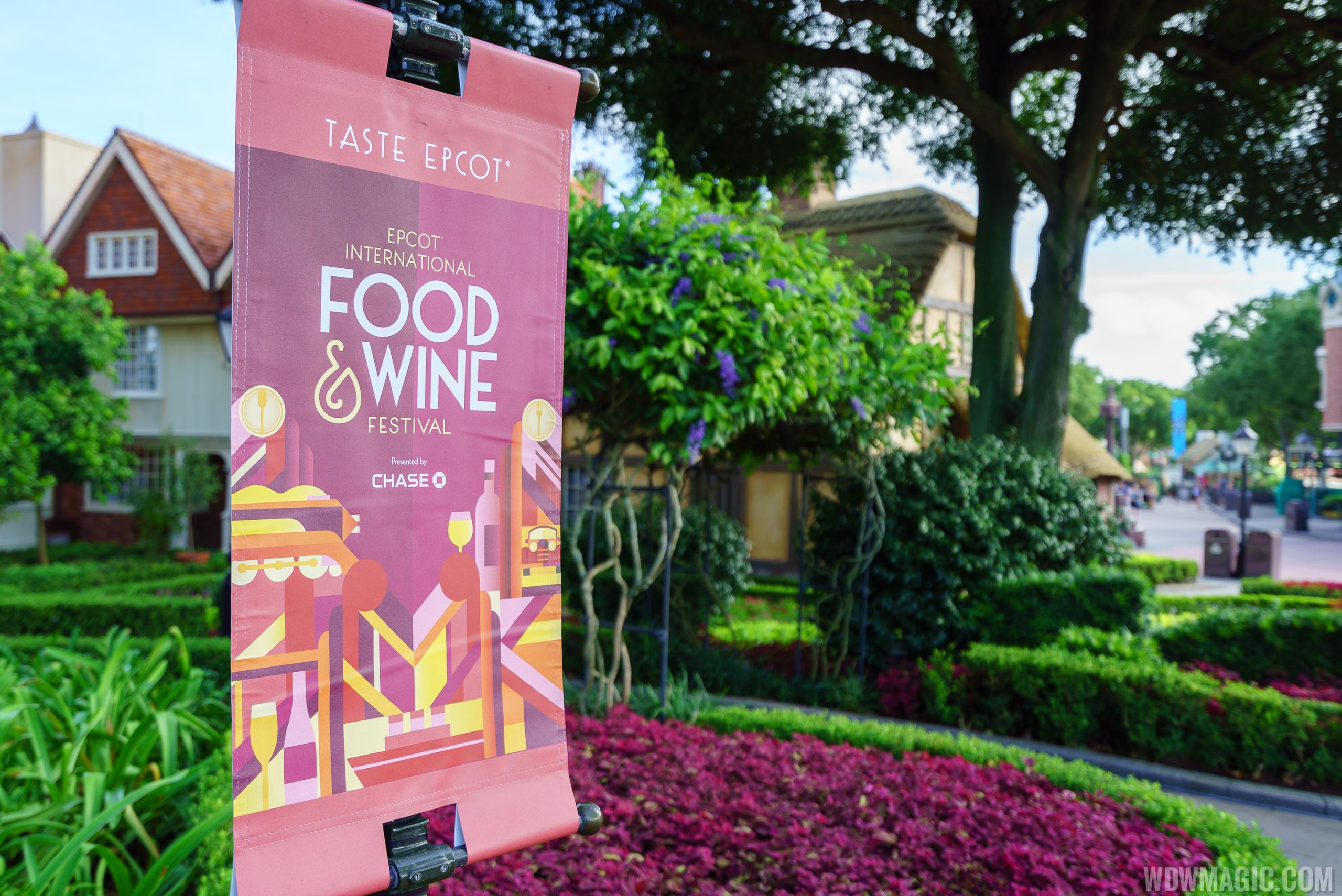 2016 Epcot Food and Wine Festival signage