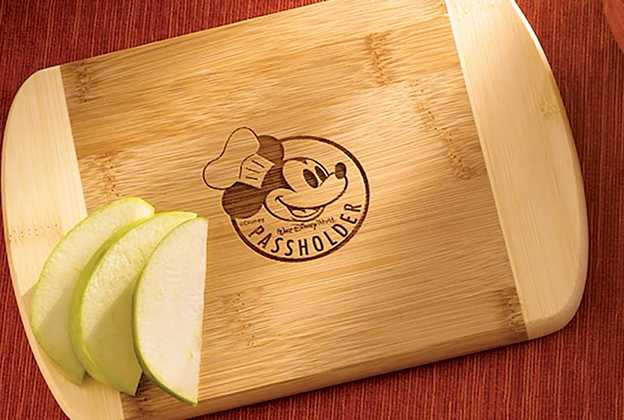 Food and Wine Festival Passholder gift - Chef Mickey cutting board