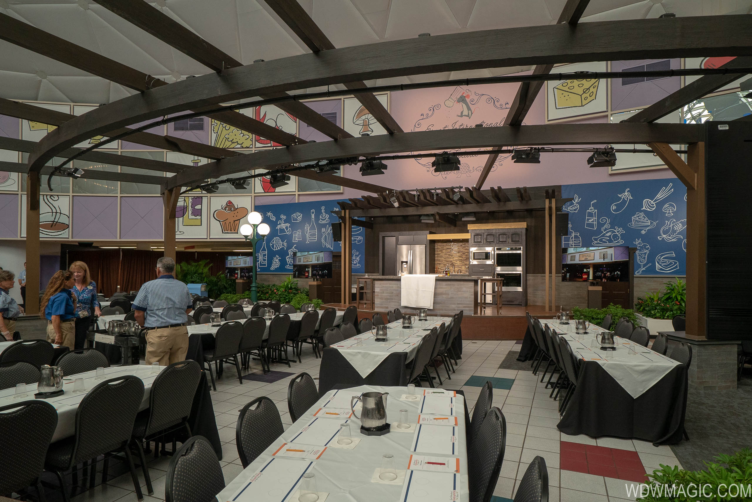Culinary Stage for cooking demonstrations at Epcot International Food and Wine Festival