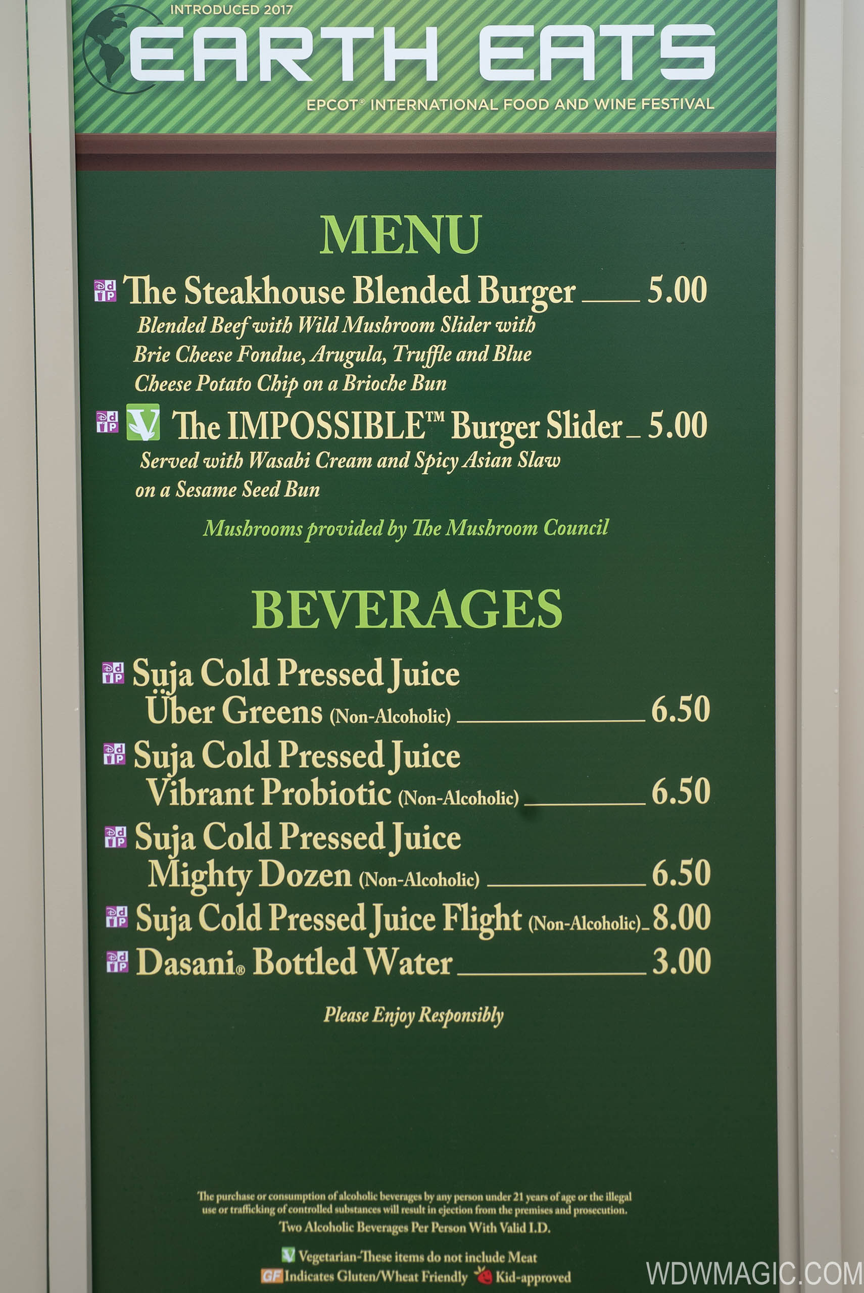 2018 Epcot Food And Wine Festival Marketplace Kiosks Menus And