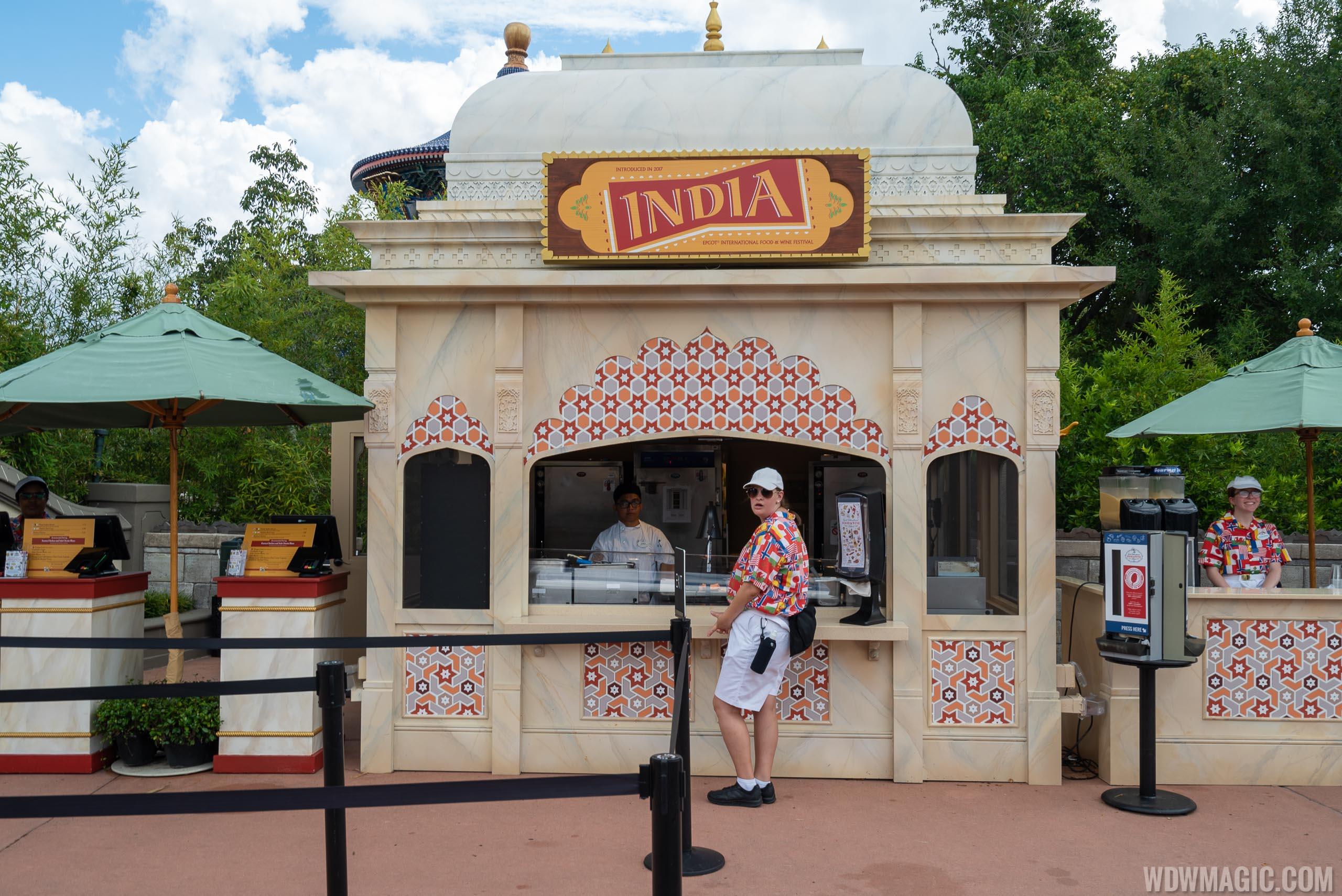 2019 Epcot Food and Wine Festival Marketplace kiosks, menus