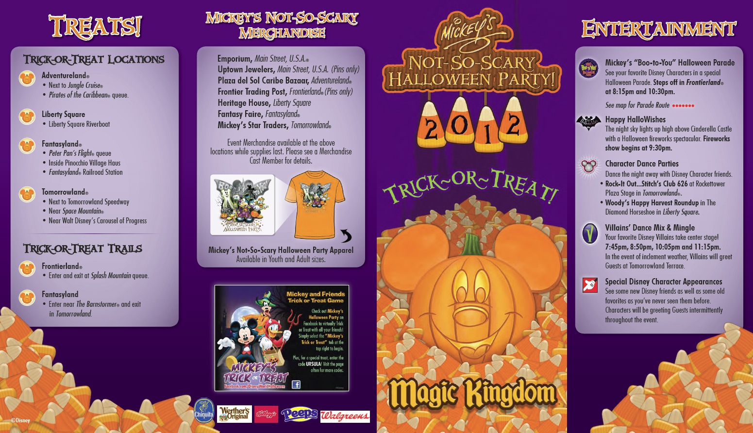 photos - mickey's not-so-scary halloween party 2012 guide map