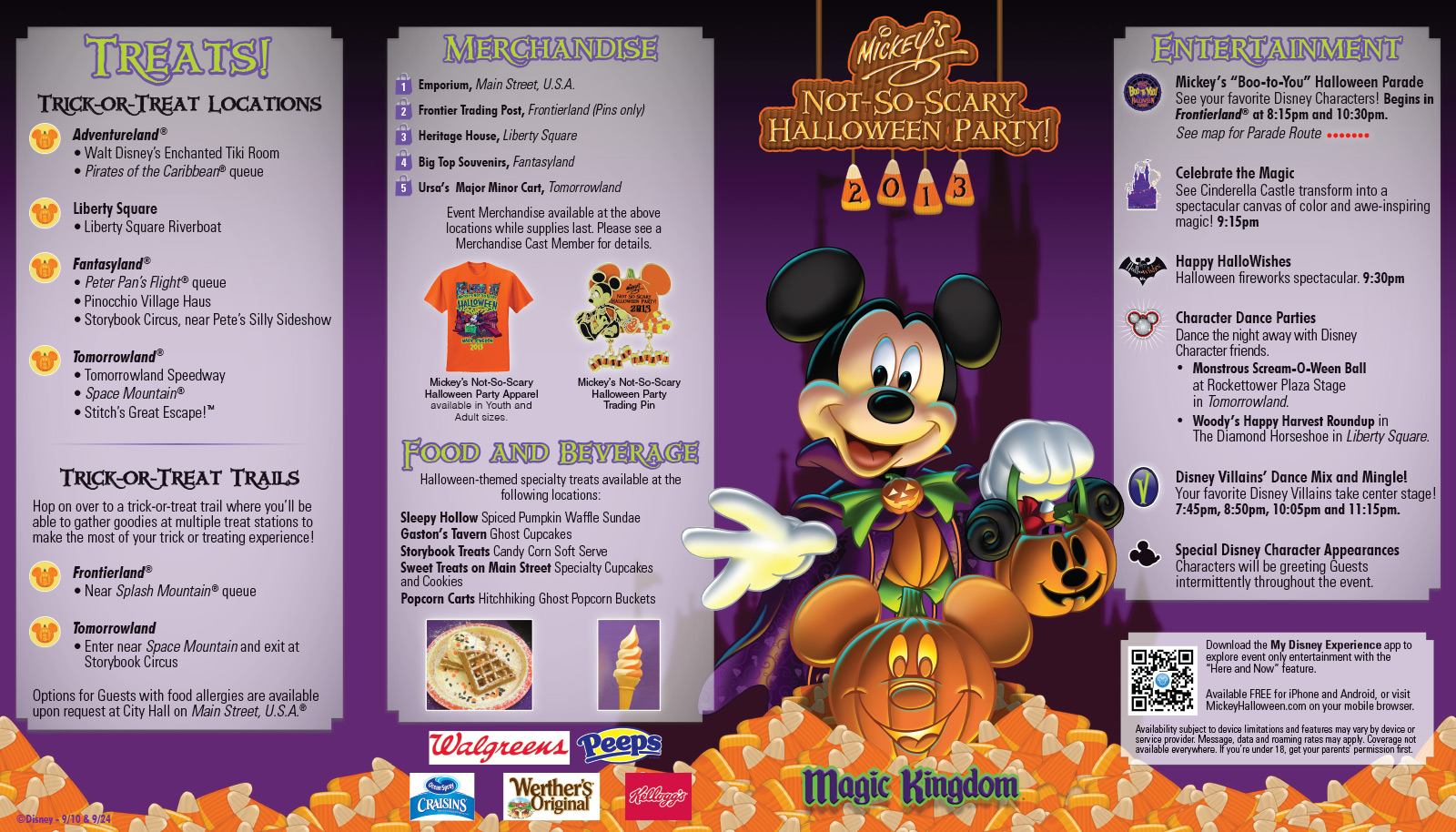 Mickey's Not-So-Scary Halloween Party guide map 2013 - Photo 1 of 2