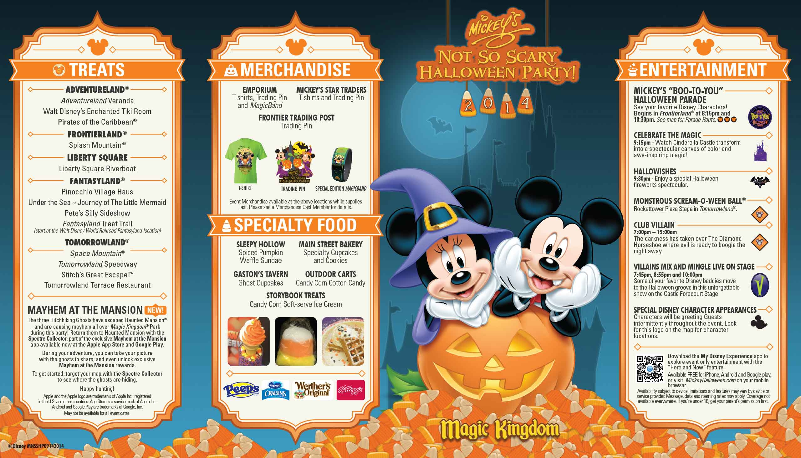 Mickey's Not-So-Scary Halloween Party guide map 2014 - Photo 1 of 2