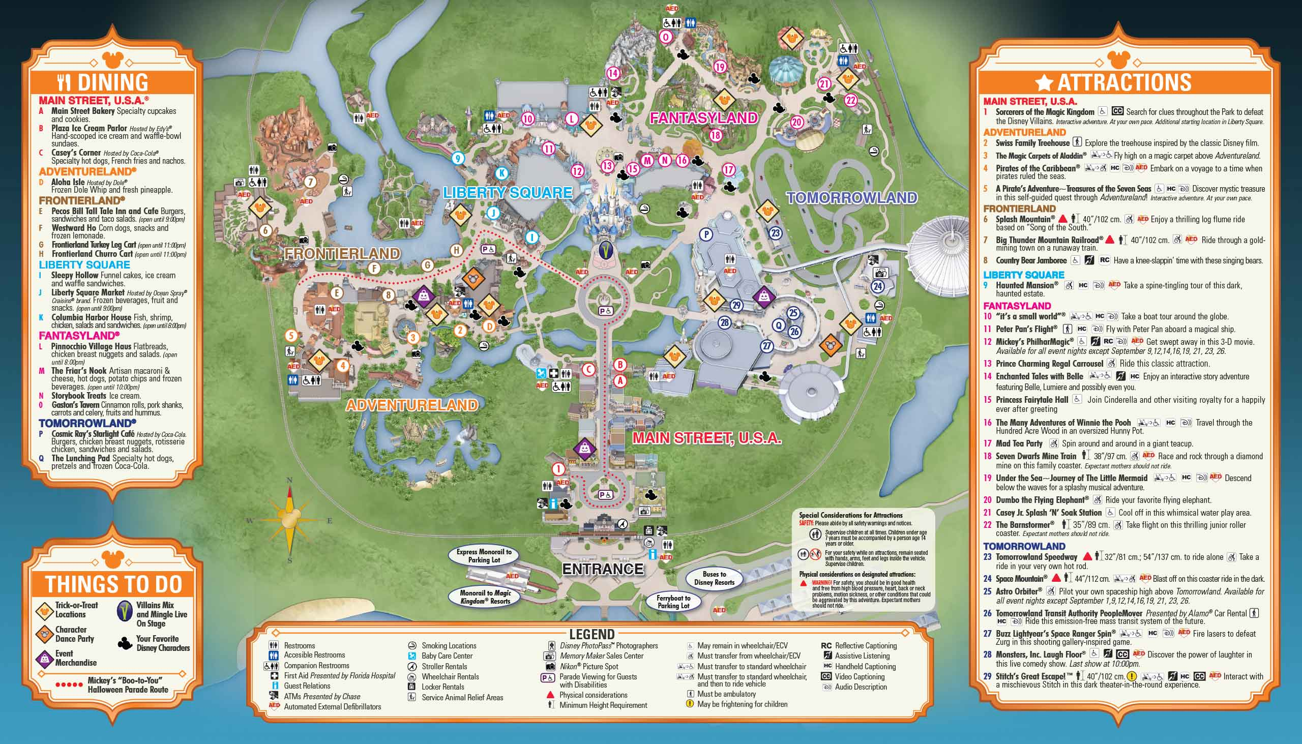 Mickey's Not-So-Scary Halloween Party guide map 2014 - Photo 2 of 2