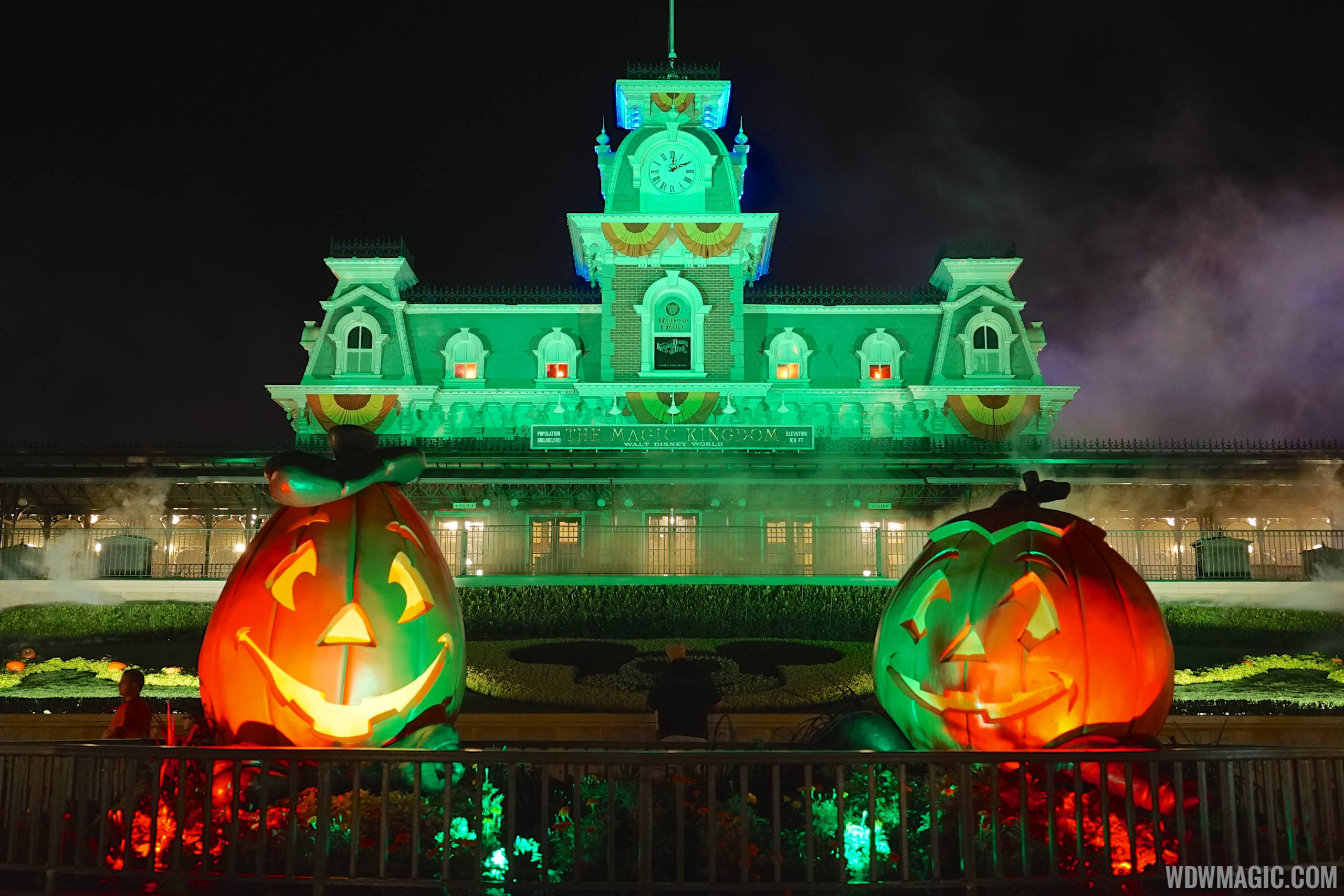 Main Street Train Station during Mickey's Not So Scary Halloween Party