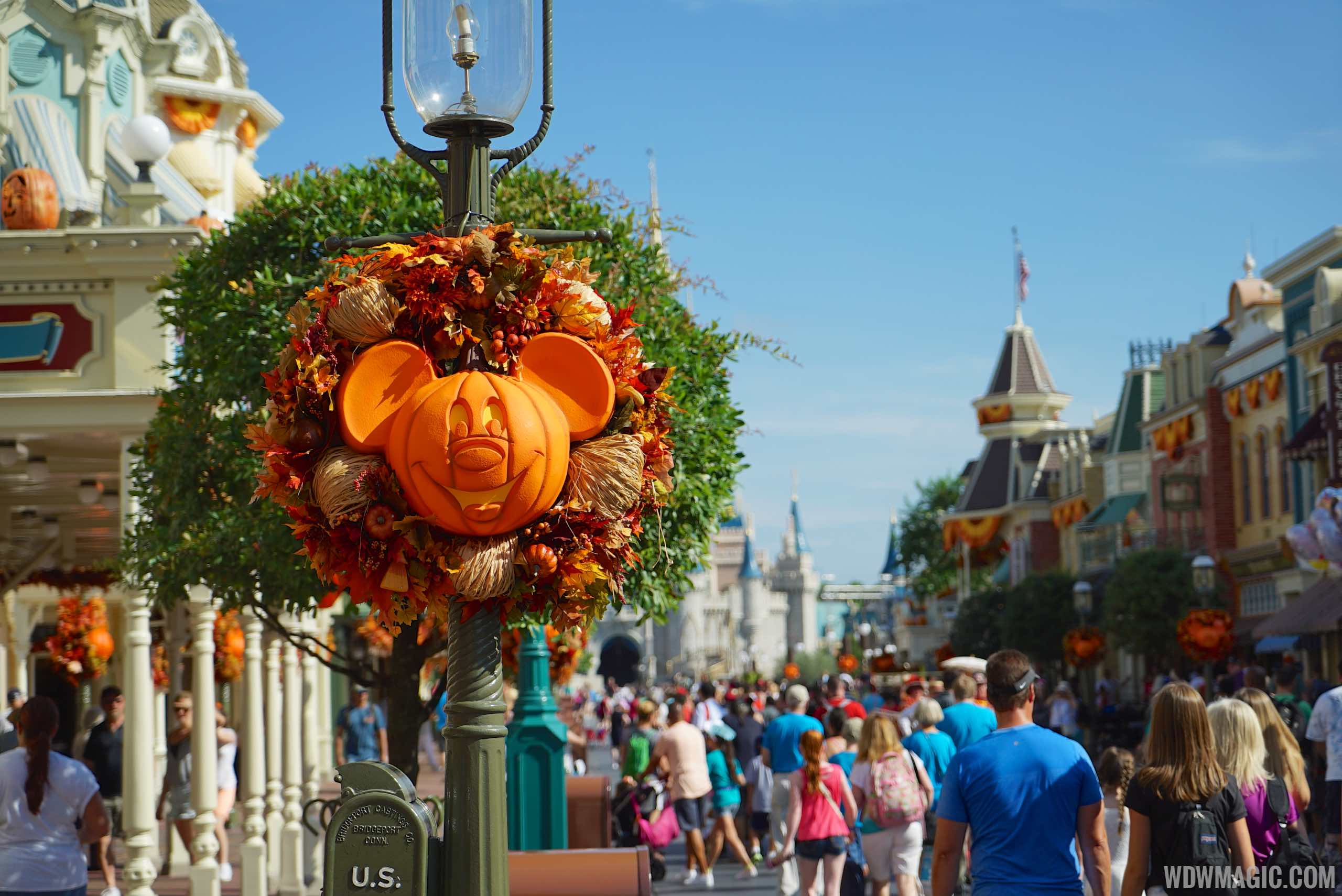 Magic Kingdom's fall Halloween decorations 2015