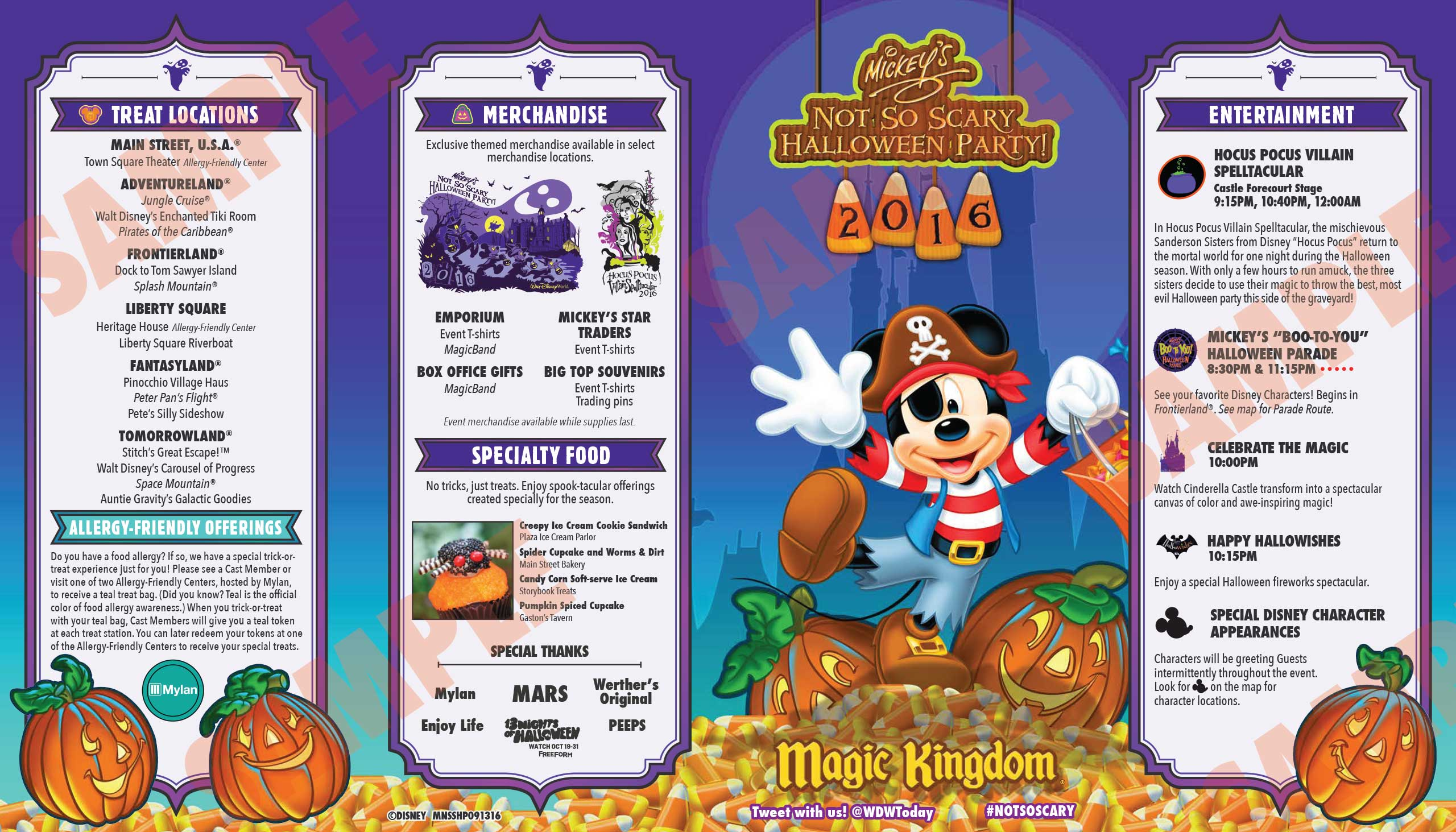 Mickey's Not-So-Scary Halloween Party guide map 2016 - Photo 1 of 2