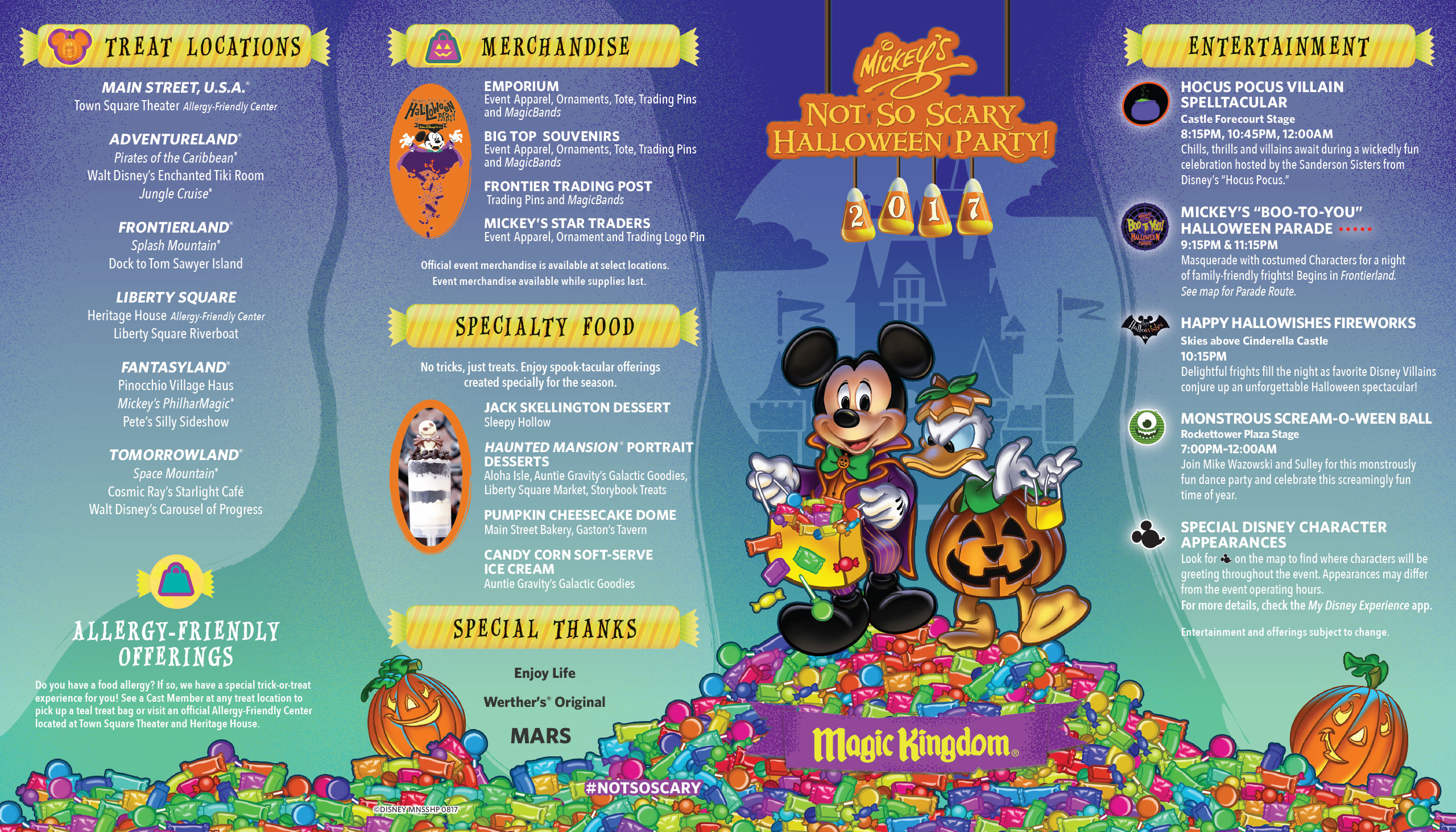 PHOTOS - Guide map for the 2017 Mickey's Not-So-Scary Halloween Party