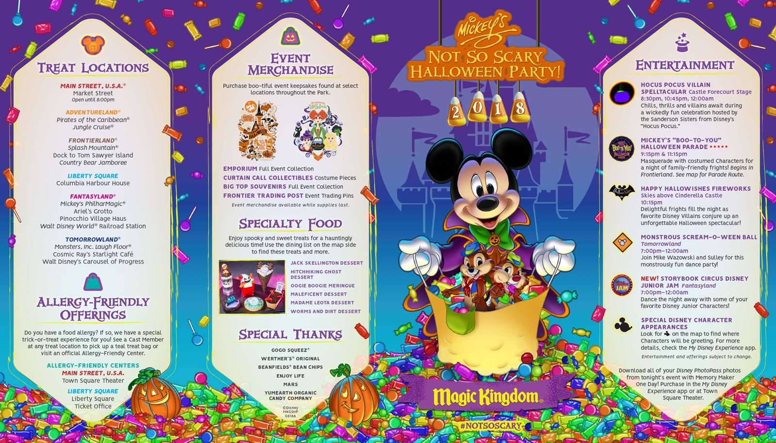 Mickey Mouse Not So Scary Halloween Map 2020 Mickey's Not So Scary Halloween Party 2018 guide map   Photo 1 of 2