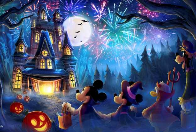 2019 Mickey's Not-So-Scary Halloween Party firework show concept art