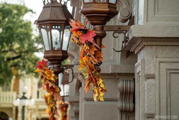 Magic Kingdom fall decorations 2020