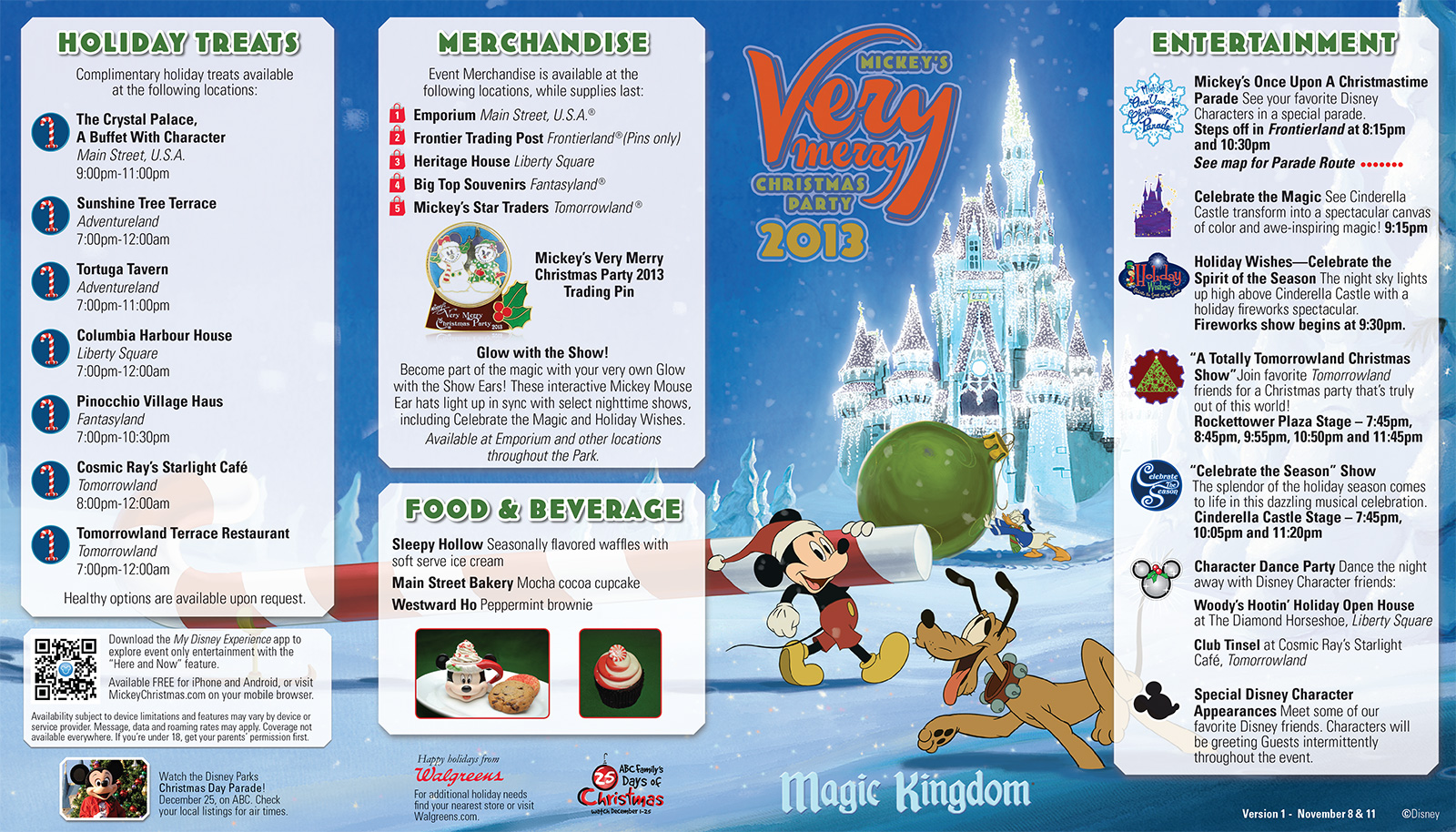 photos mickeys very merry christmas party event guide map