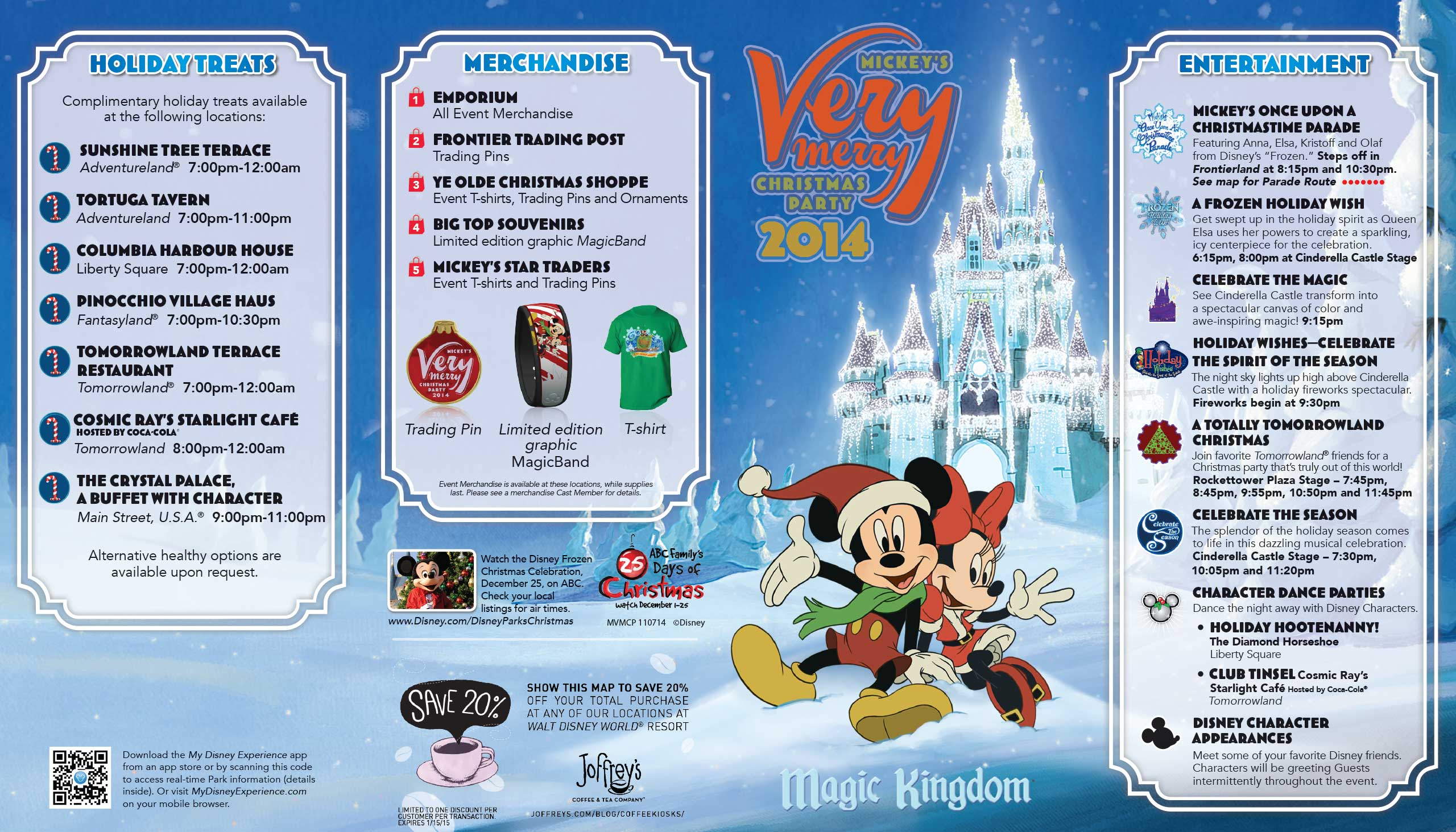 Mickeys Very Merry Christmas Party Merchandise.Mickey S Very Merry Christmas Party 2014 Guide Map Photo 1