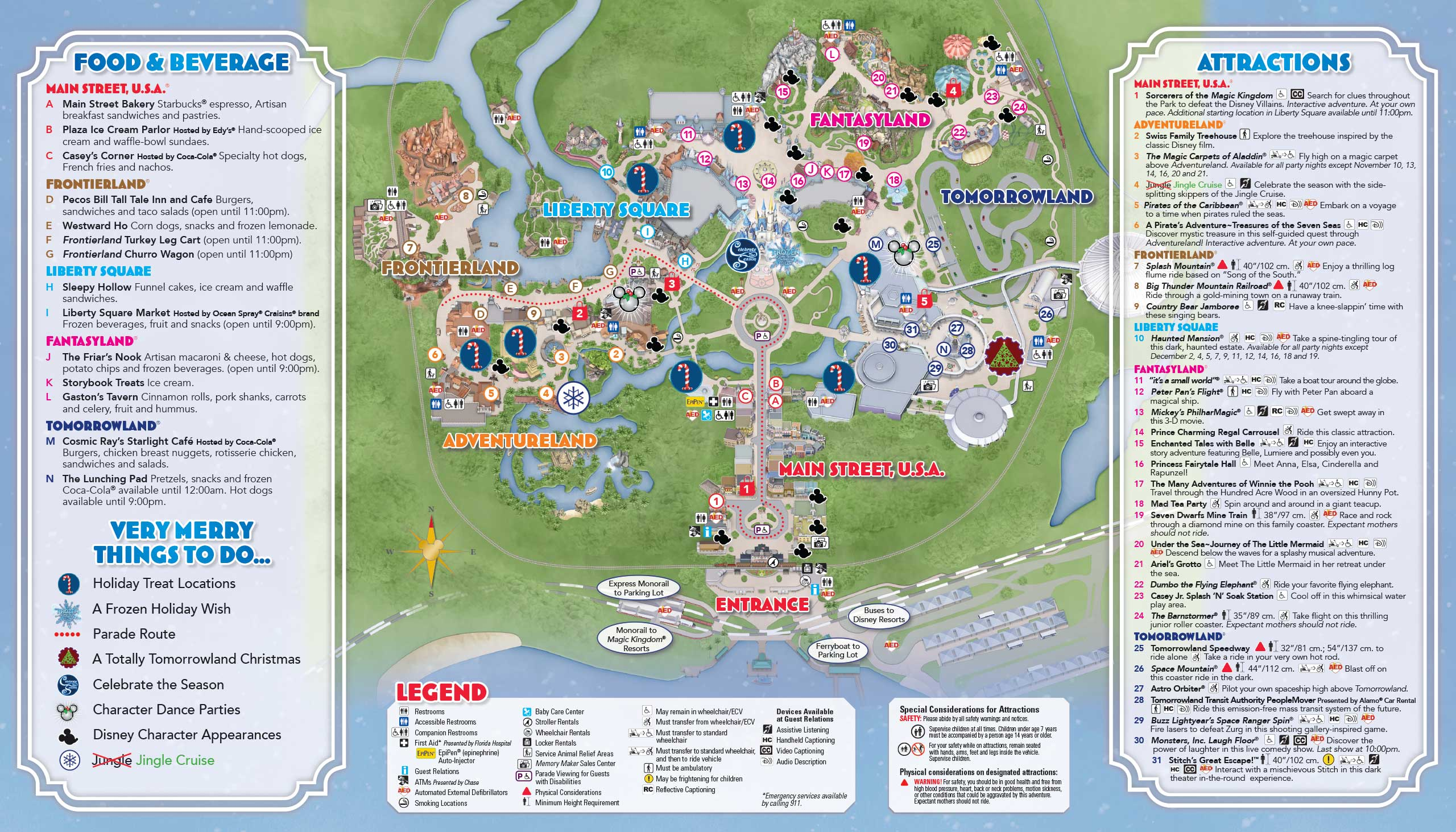 photos mickeys very merry christmas party guide map