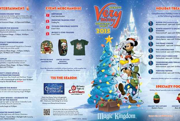 Mickey's Very Merry Christmas Party 2015 guide map