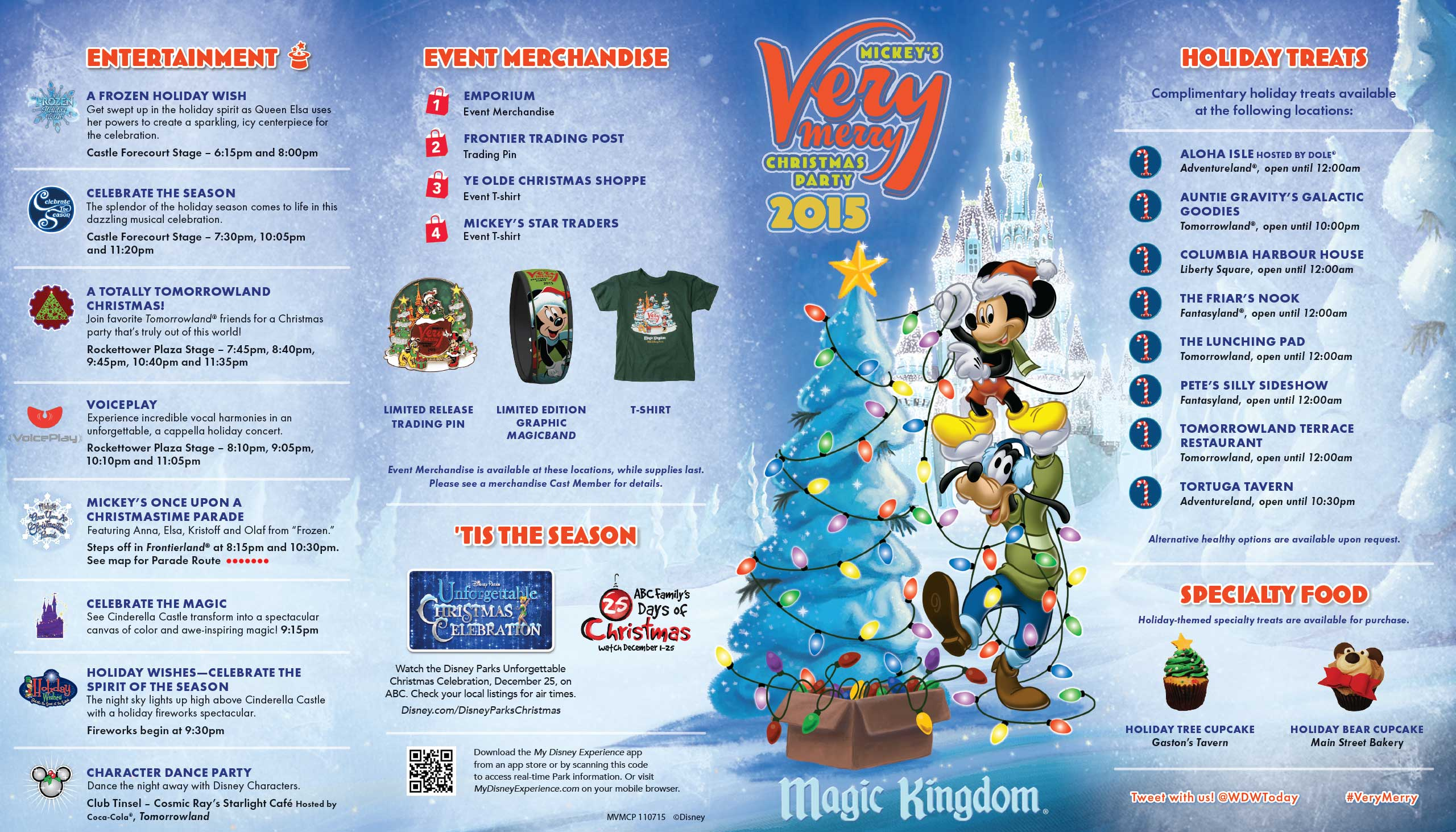 Mickeys Very Merry Christmas Party.Mickey S Very Merry Christmas Party 2015 Guide Map Photo 1