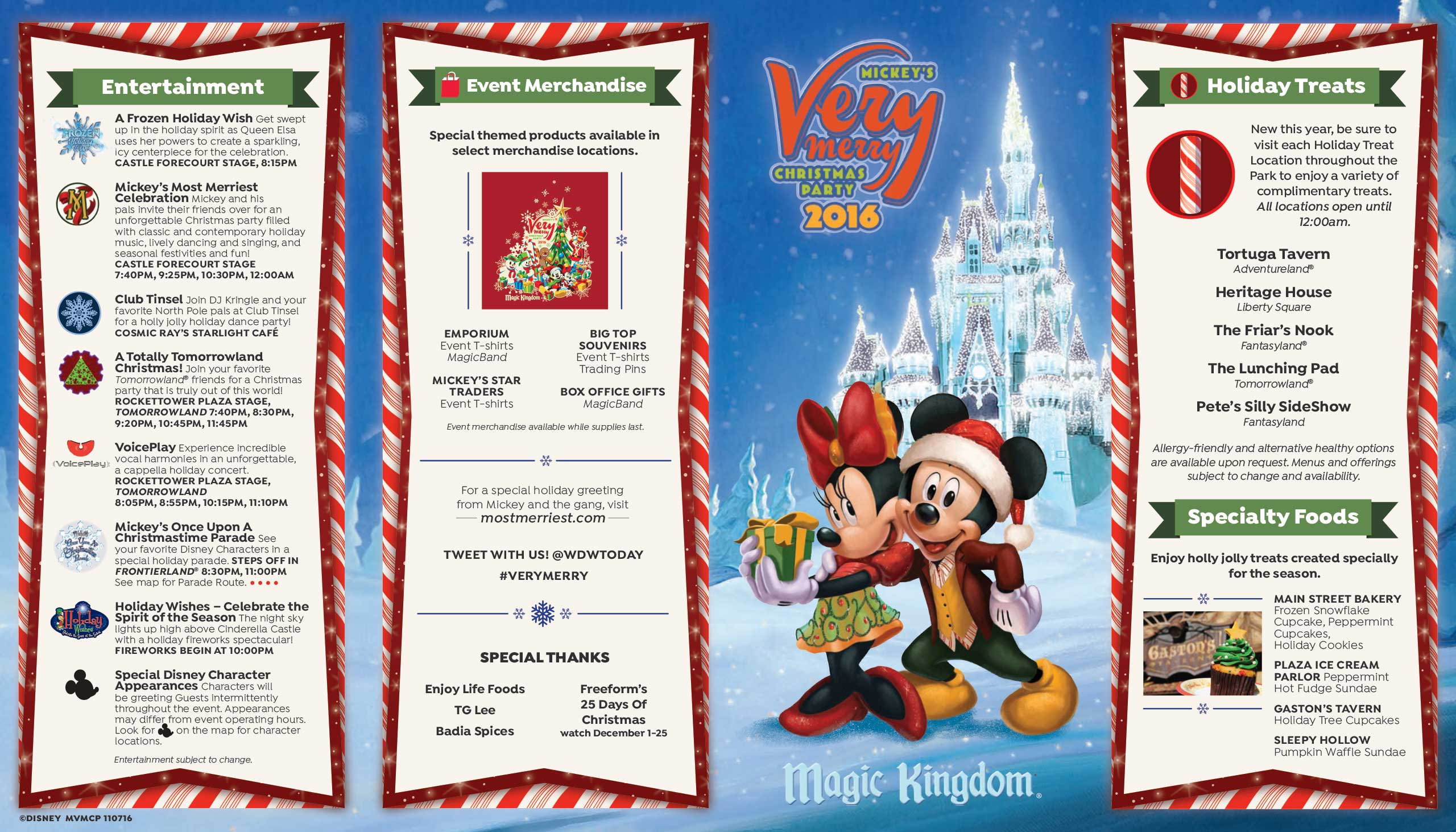 Mickeys Very Merry Christmas Party 2020 Brochure Mickey's Very Merry Christmas Party 2016 guide map   Photo 1 of 2