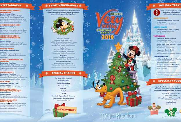 mickeys very merry christmas party 2018 guide map - Mickeys Very Merry Christmas Party