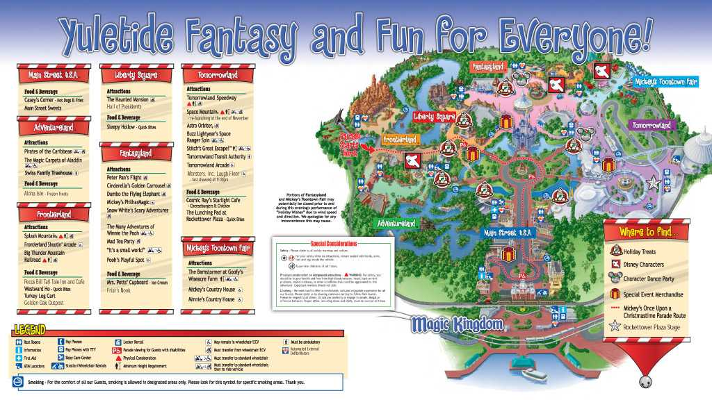 Mickey's Very Merry Christmas Party 2009 guide map - Photo 2 of 2