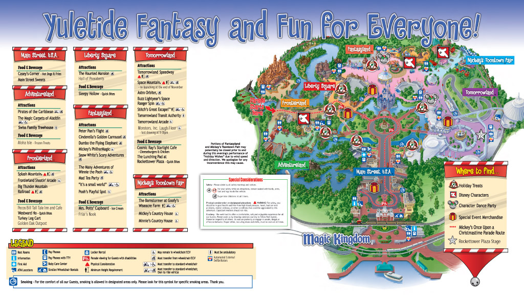 Mickey's Very Merry Christmas Party 2009 guide map