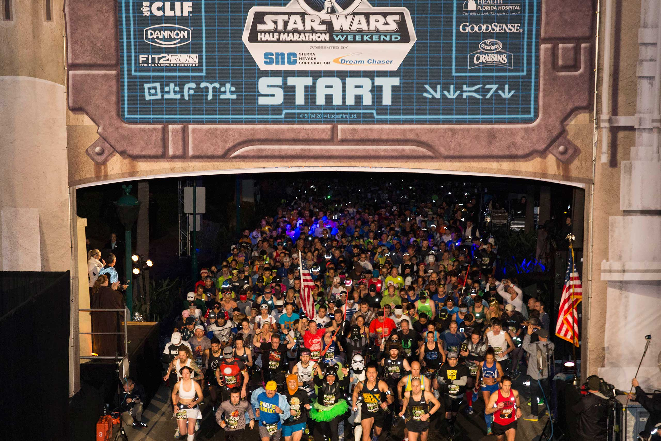 Star Wars Half Marathon start line