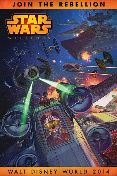 2014 Star Wars Weekend promo poster