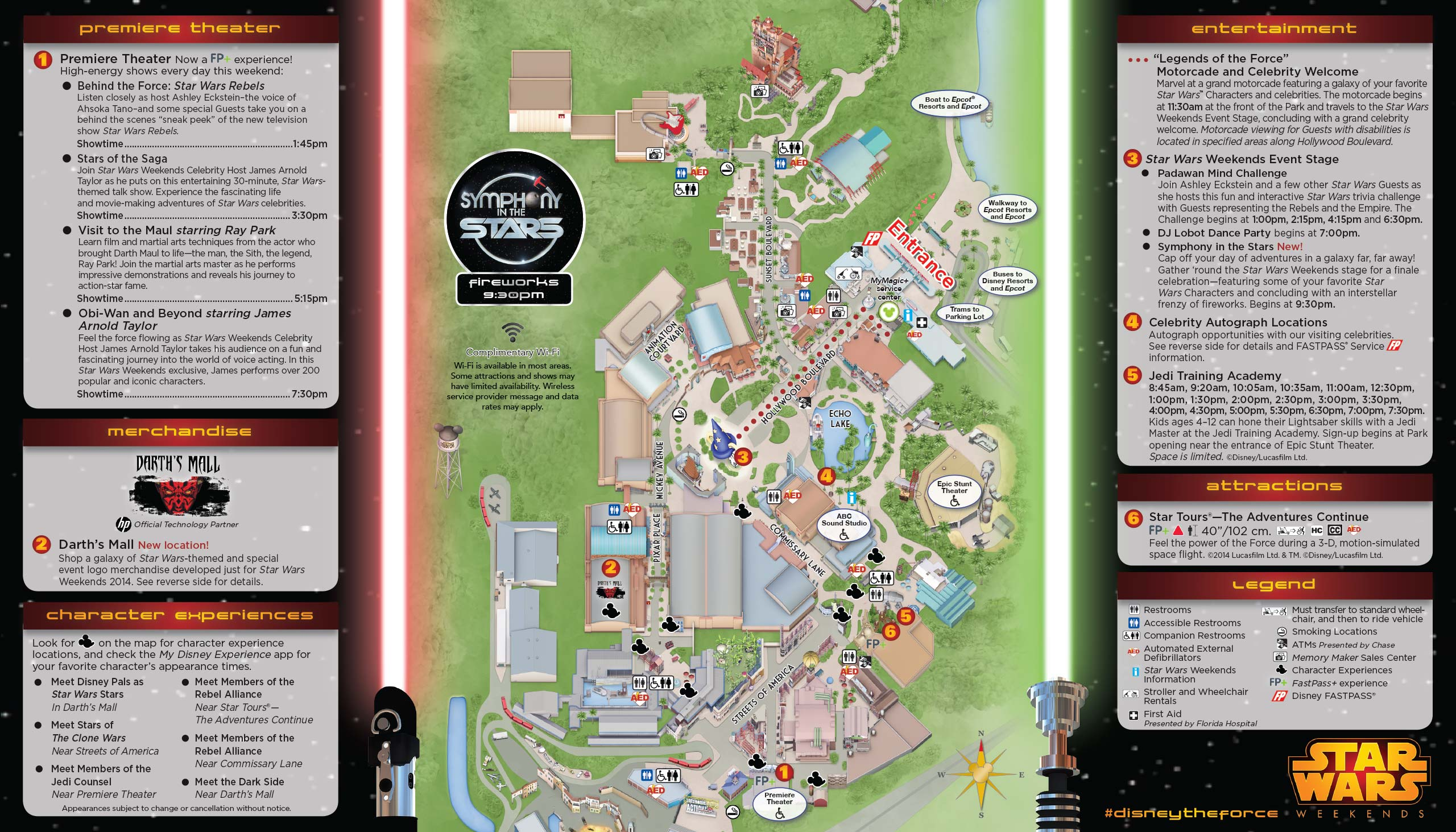 2014 Star Wars Weekends May 30 - June 1 Weekend 3 guide map back
