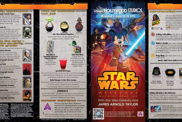 2015 Star Wars Weekends June 12 - 14 Weekend 5 guide map